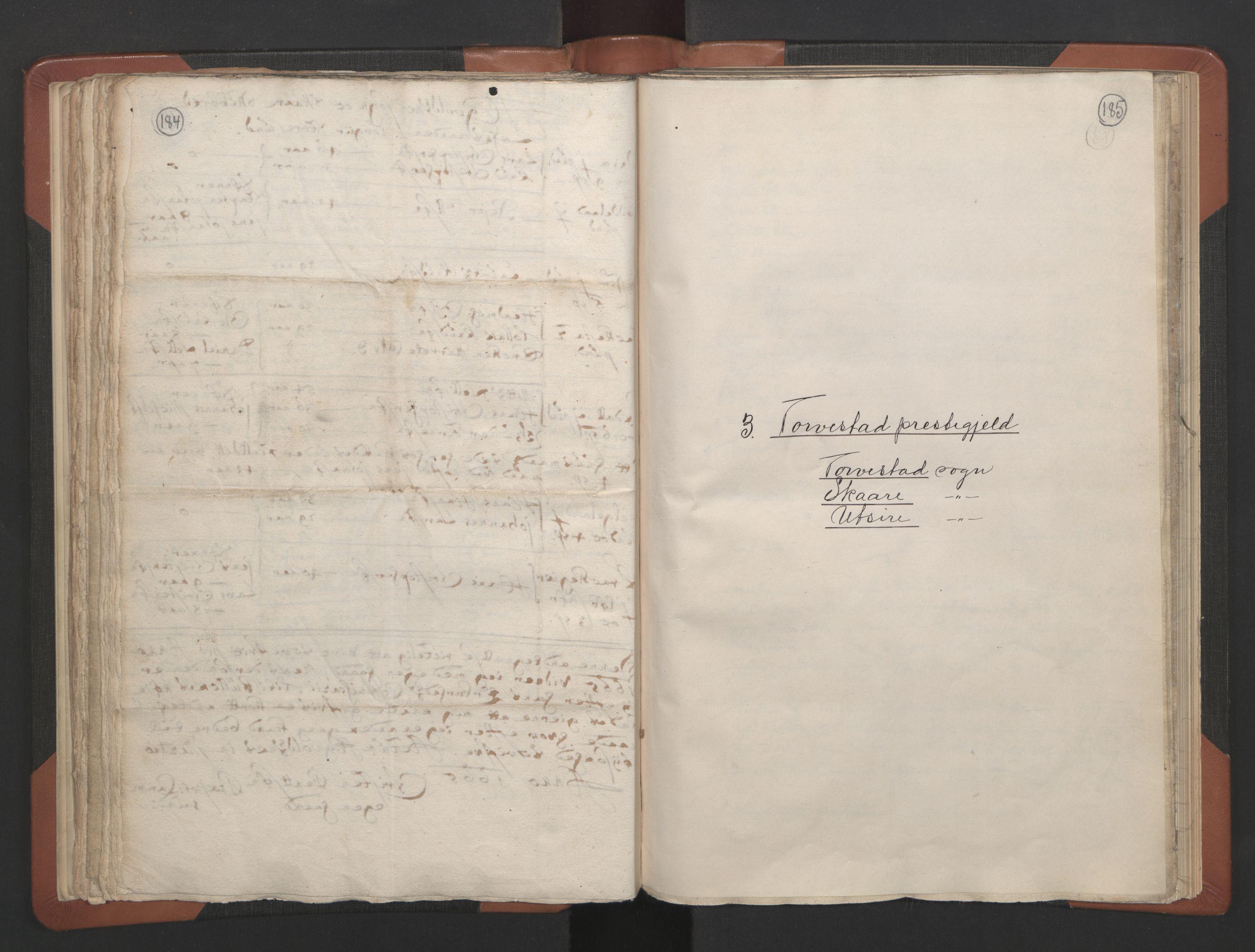 RA, Sogneprestenes manntall 1664-1666, nr. 18: Stavanger prosti og Karmsund prosti, 1664-1666, s. 184-185