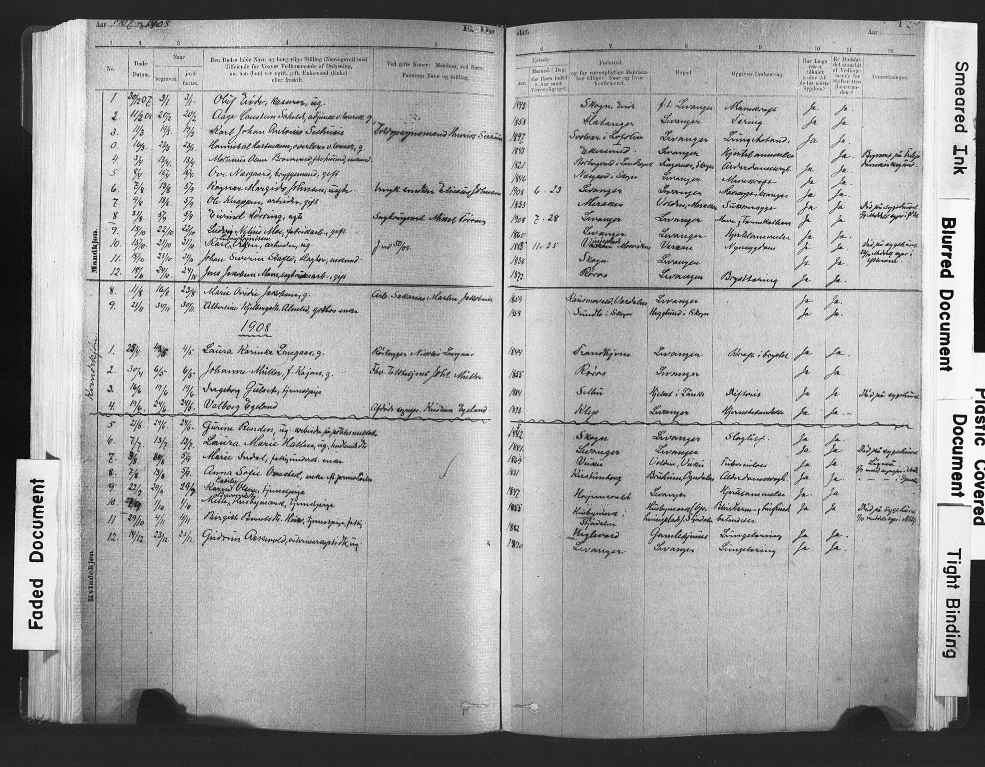 SAT, Ministerialprotokoller, klokkerbøker og fødselsregistre - Nord-Trøndelag, 720/L0189: Ministerialbok nr. 720A05, 1880-1911, s. 129