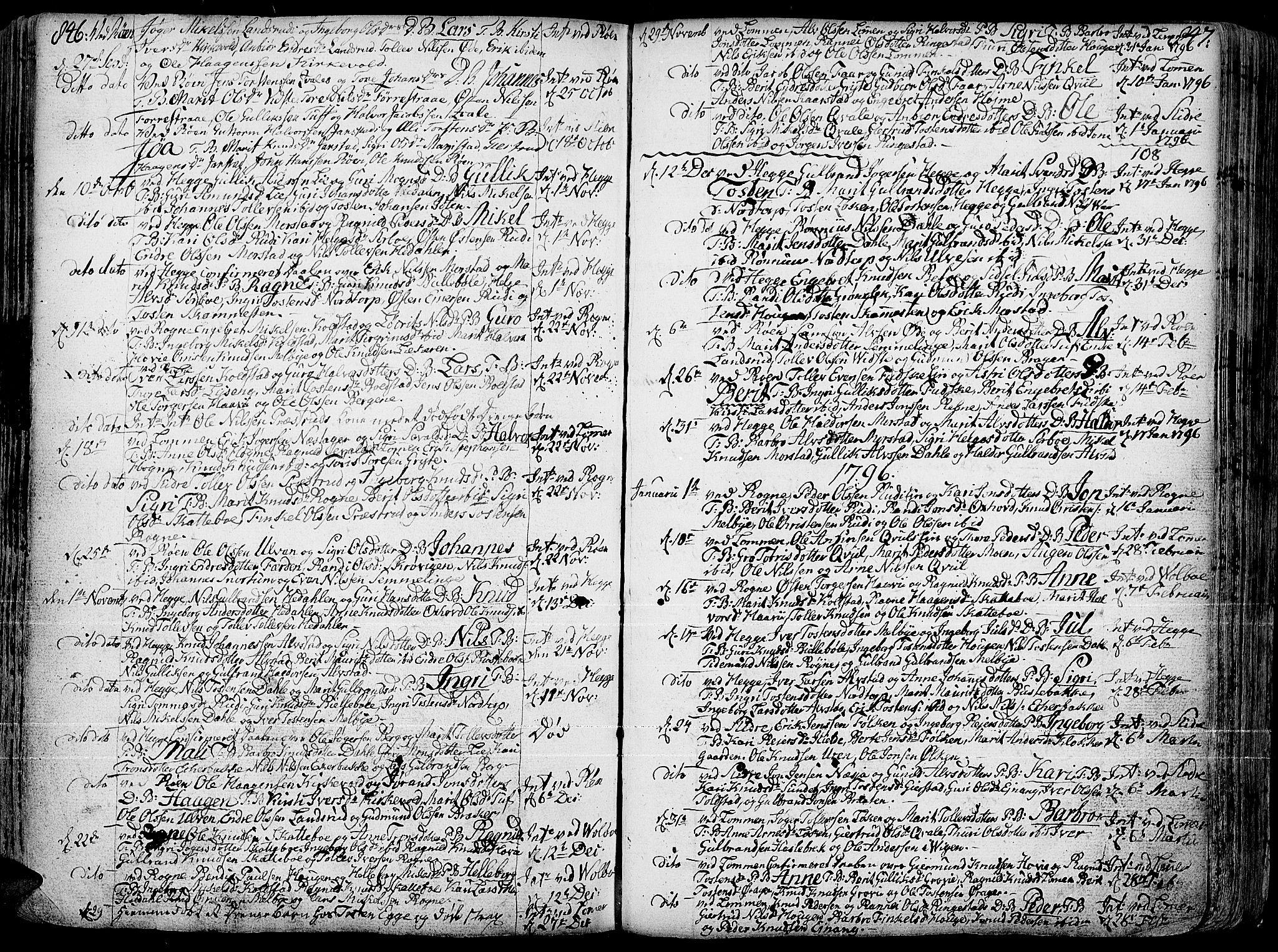 SAH, Slidre prestekontor, Ministerialbok nr. 1, 1724-1814, s. 846-847