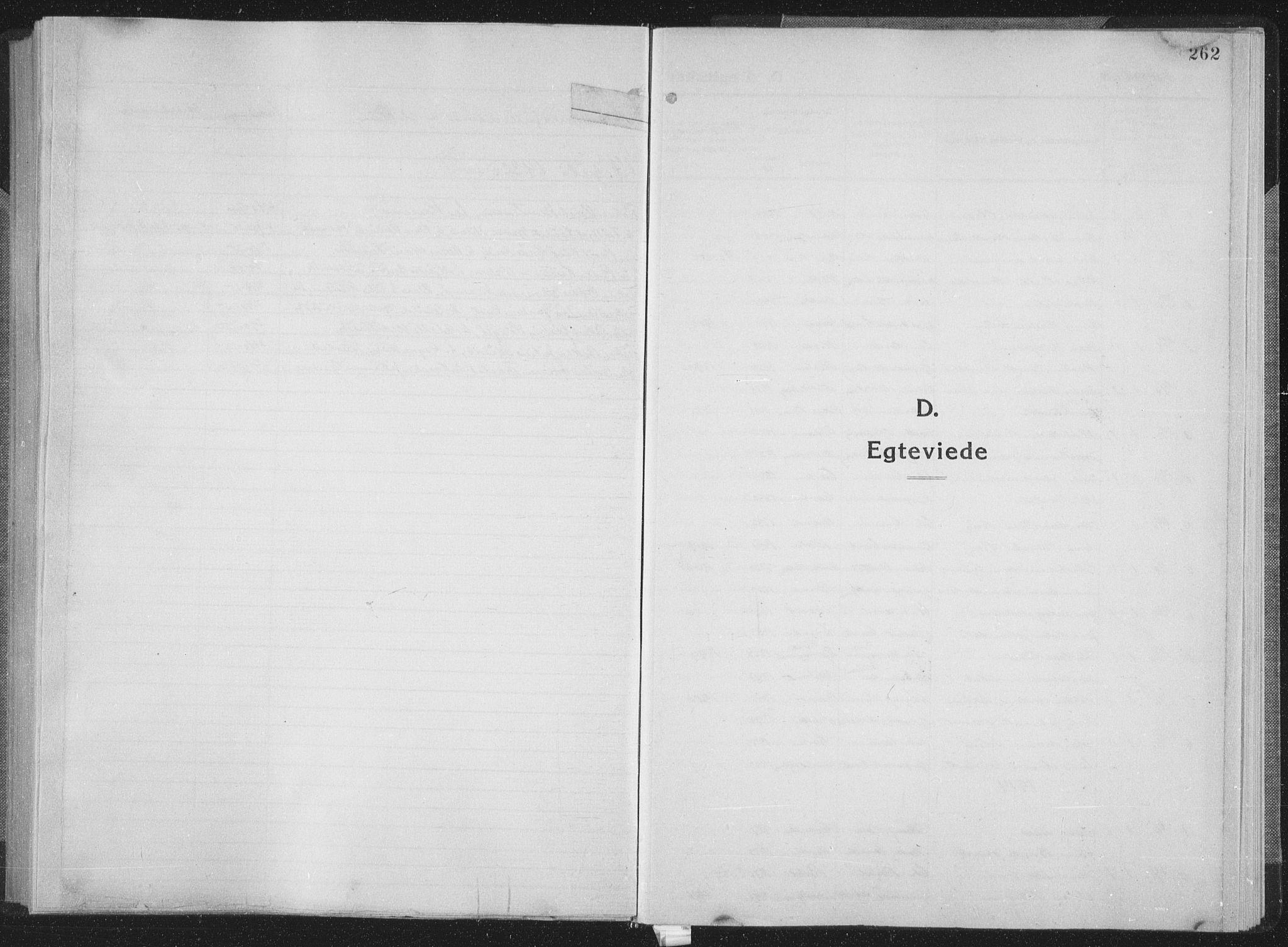 SAT, Ministerialprotokoller, klokkerbøker og fødselsregistre - Sør-Trøndelag, 659/L0747: Klokkerbok nr. 659C04, 1913-1938, s. 262