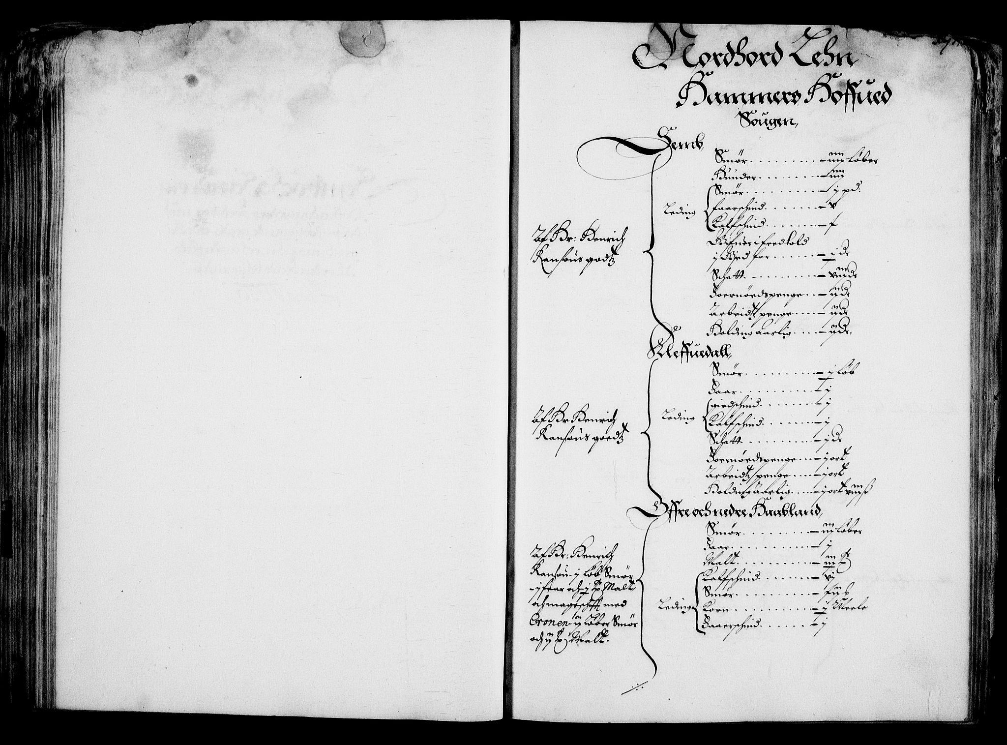 RA, Rentekammeret inntil 1814, Realistisk ordnet avdeling, On/L0001: Statens gods, 1651, s. 185