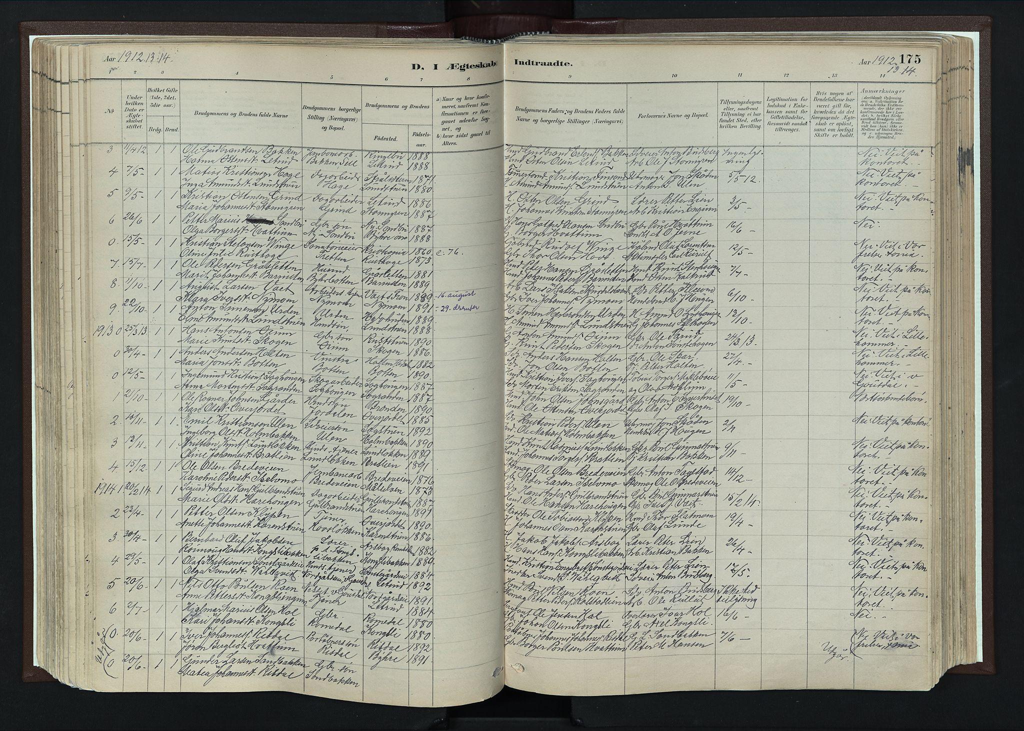 SAH, Nord-Fron prestekontor, Ministerialbok nr. 4, 1884-1914, s. 175