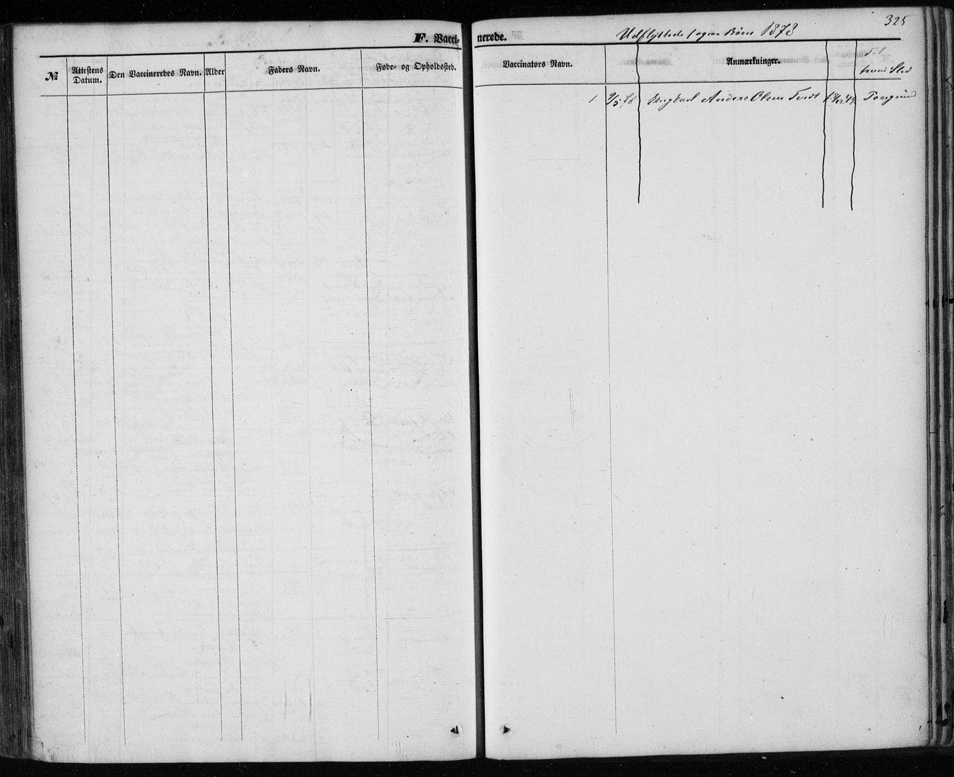 SAKO, Holla kirkebøker, F/Fa/L0006: Ministerialbok nr. 6, 1861-1869, s. 325
