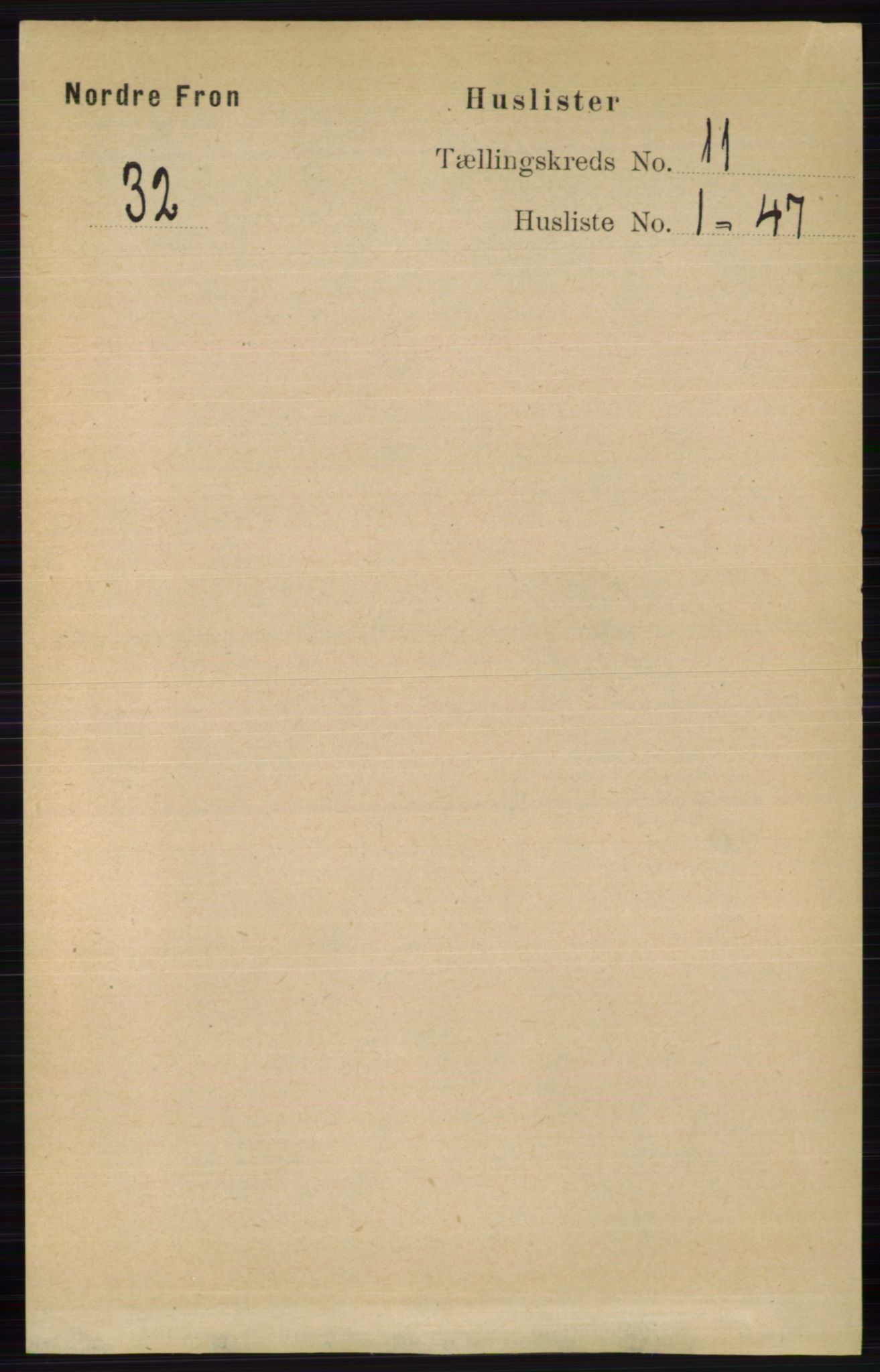 RA, Folketelling 1891 for 0518 Nord-Fron herred, 1891, s. 4780