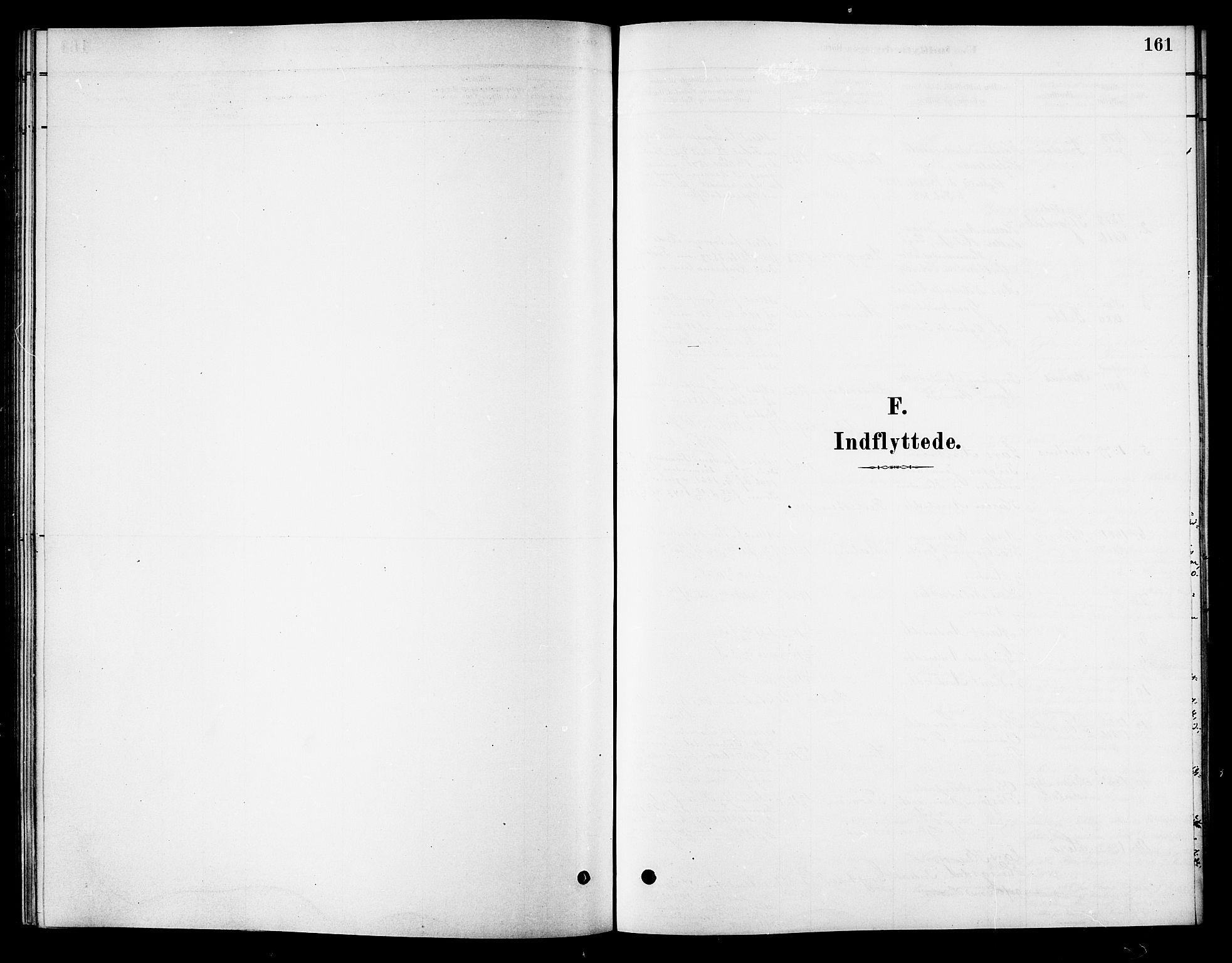SAT, Ministerialprotokoller, klokkerbøker og fødselsregistre - Sør-Trøndelag, 688/L1024: Ministerialbok nr. 688A01, 1879-1890, s. 161