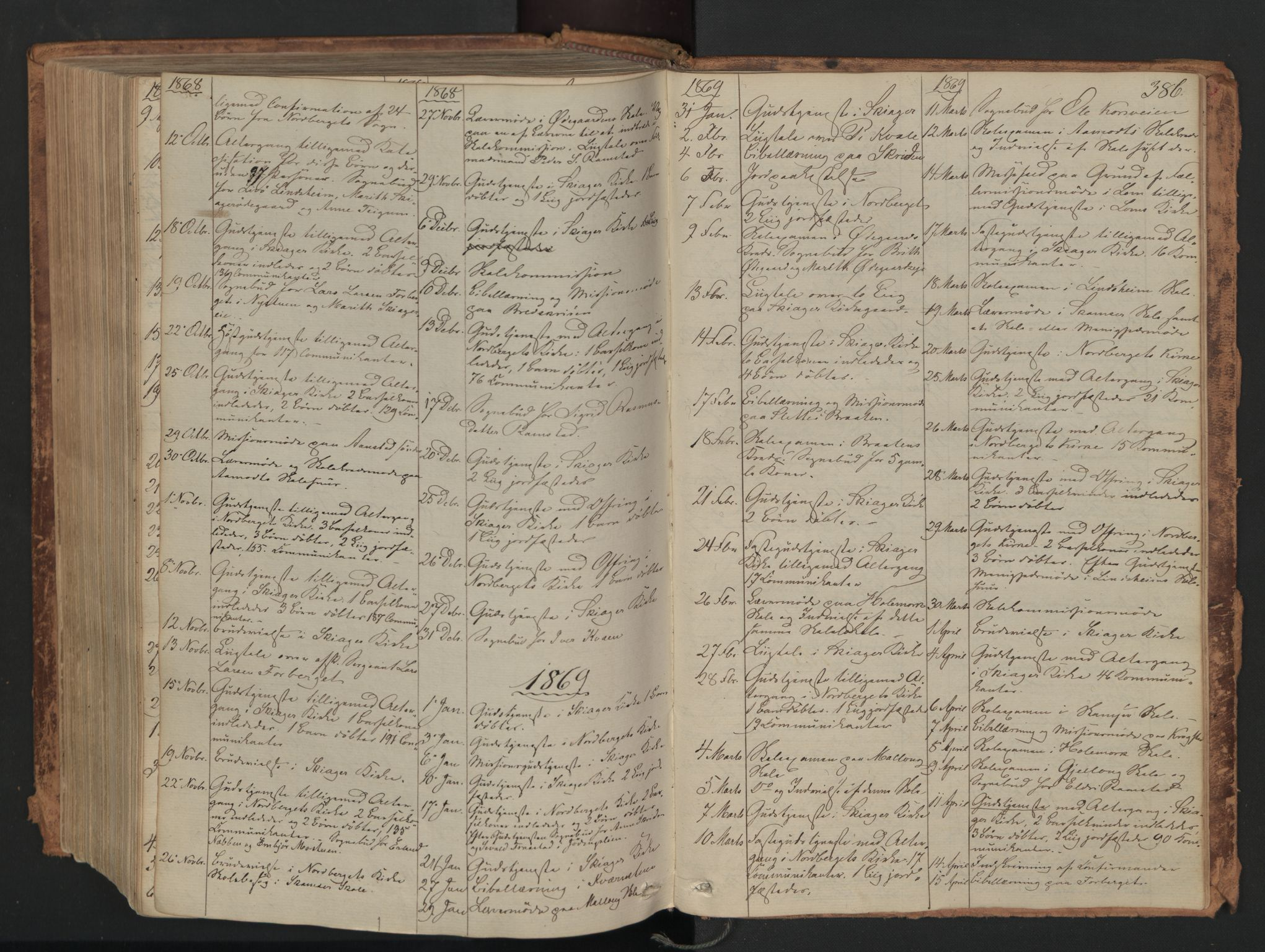SAH, Skjåk prestekontor, Ministerialbok nr. 1, 1863-1879, s. 386