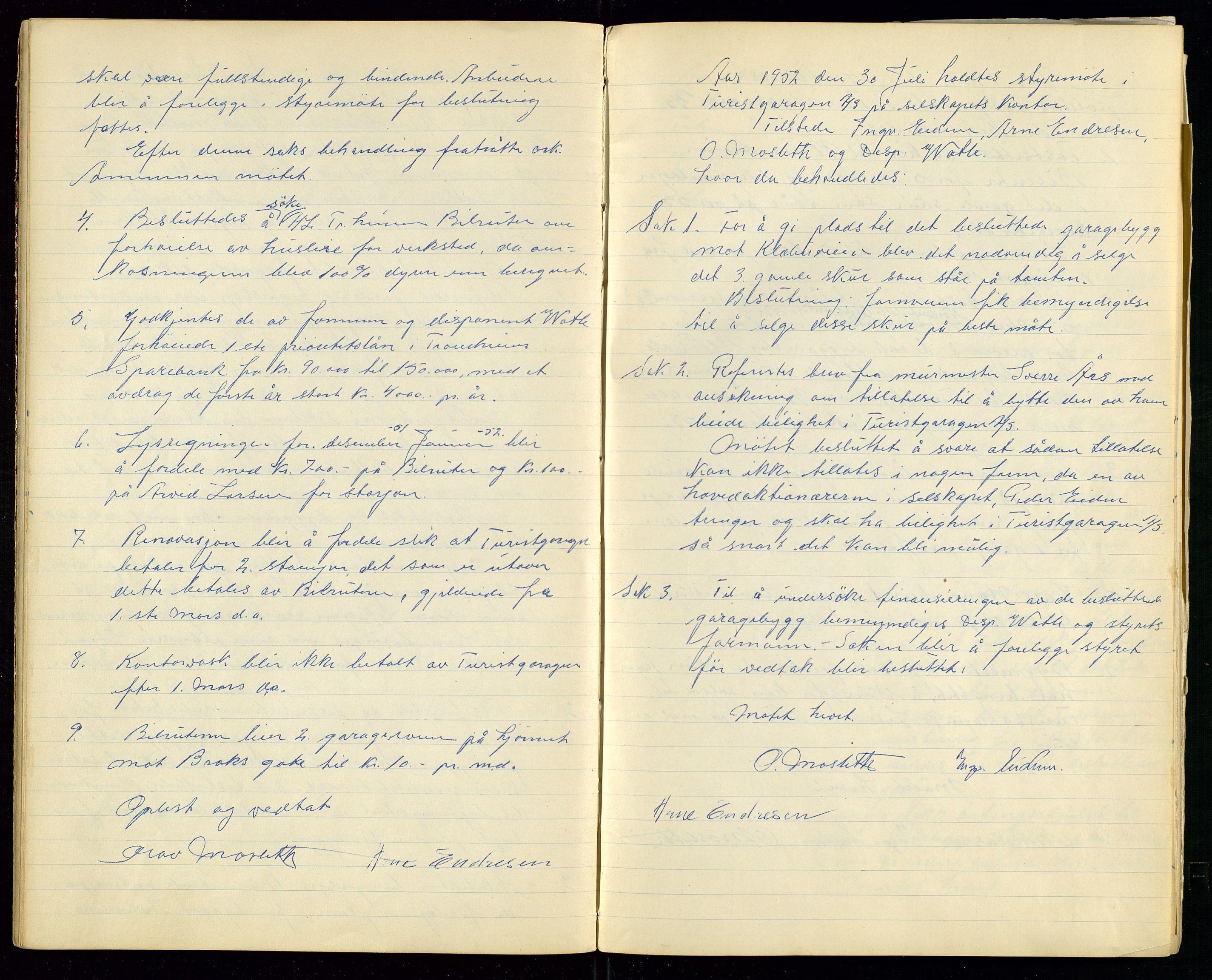 SAST, PA 1515 - Turistgarasjen A/S, A/L0001: Forhandlingsprotokoll, 1937-1958, s. 27