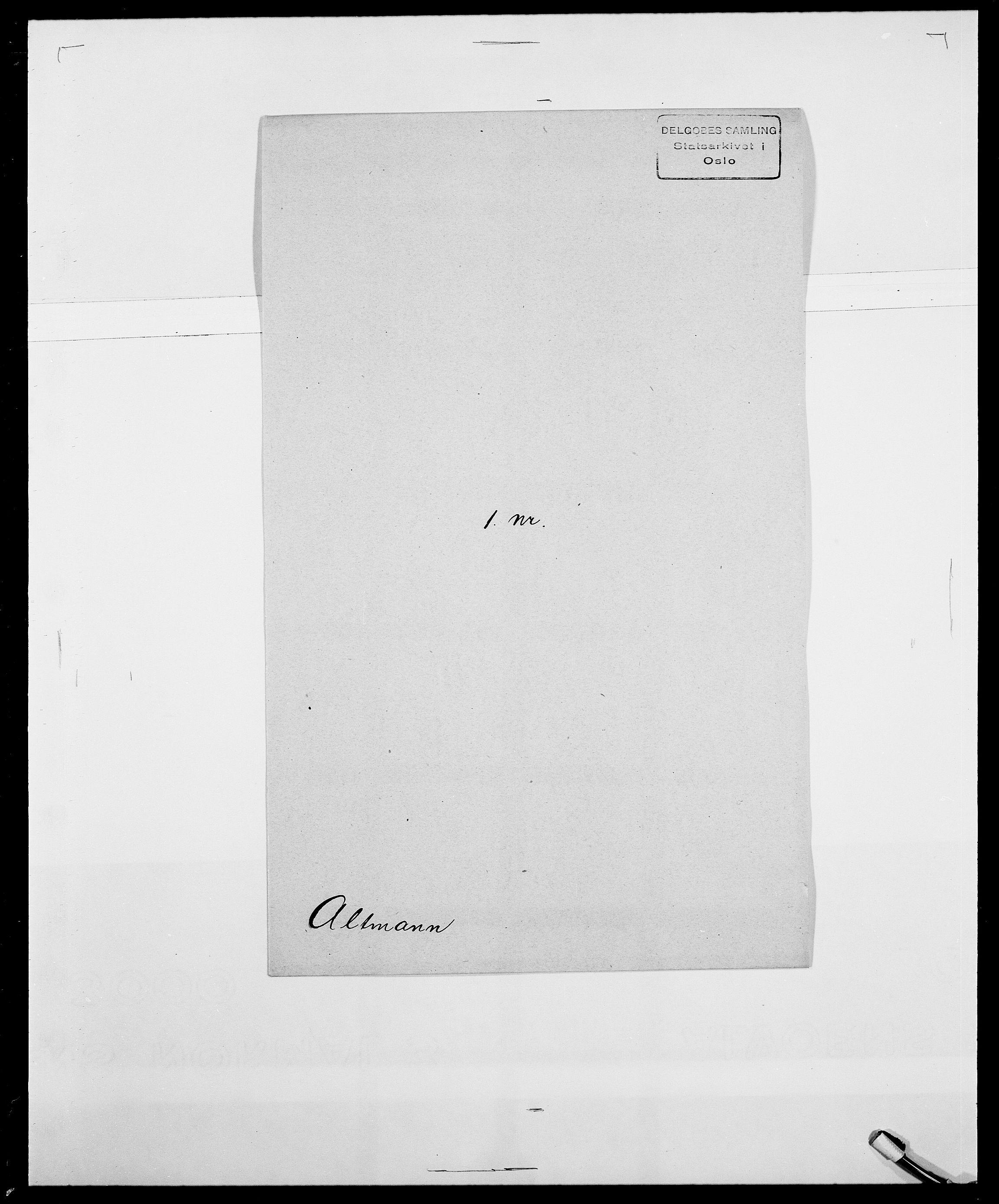 SAO, Delgobe, Charles Antoine - samling, D/Da/L0001: Aabye - Angerman, s. 501