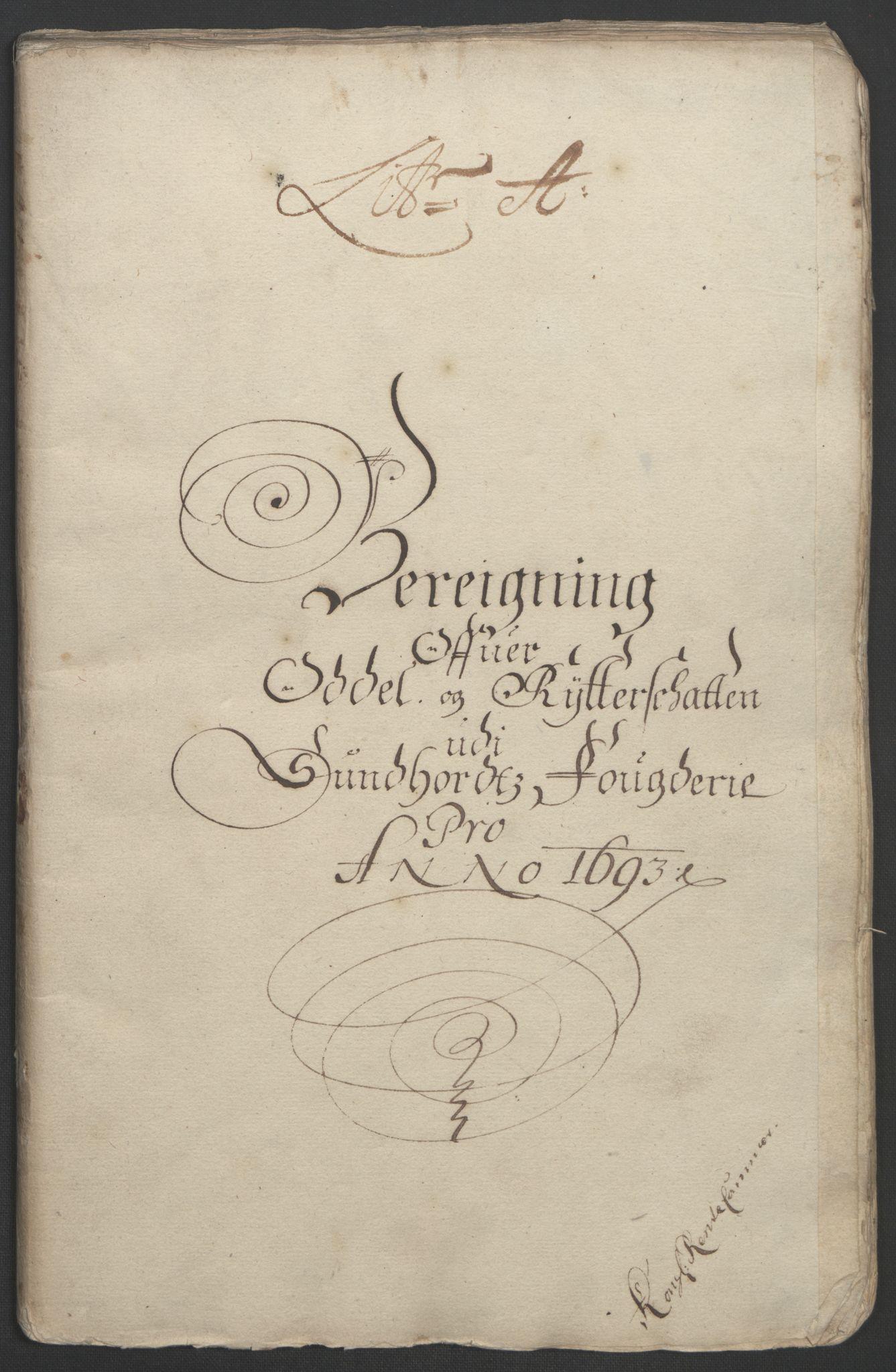 RA, Rentekammeret inntil 1814, Reviderte regnskaper, Fogderegnskap, R48/L2974: Fogderegnskap Sunnhordland og Hardanger, 1693, s. 14
