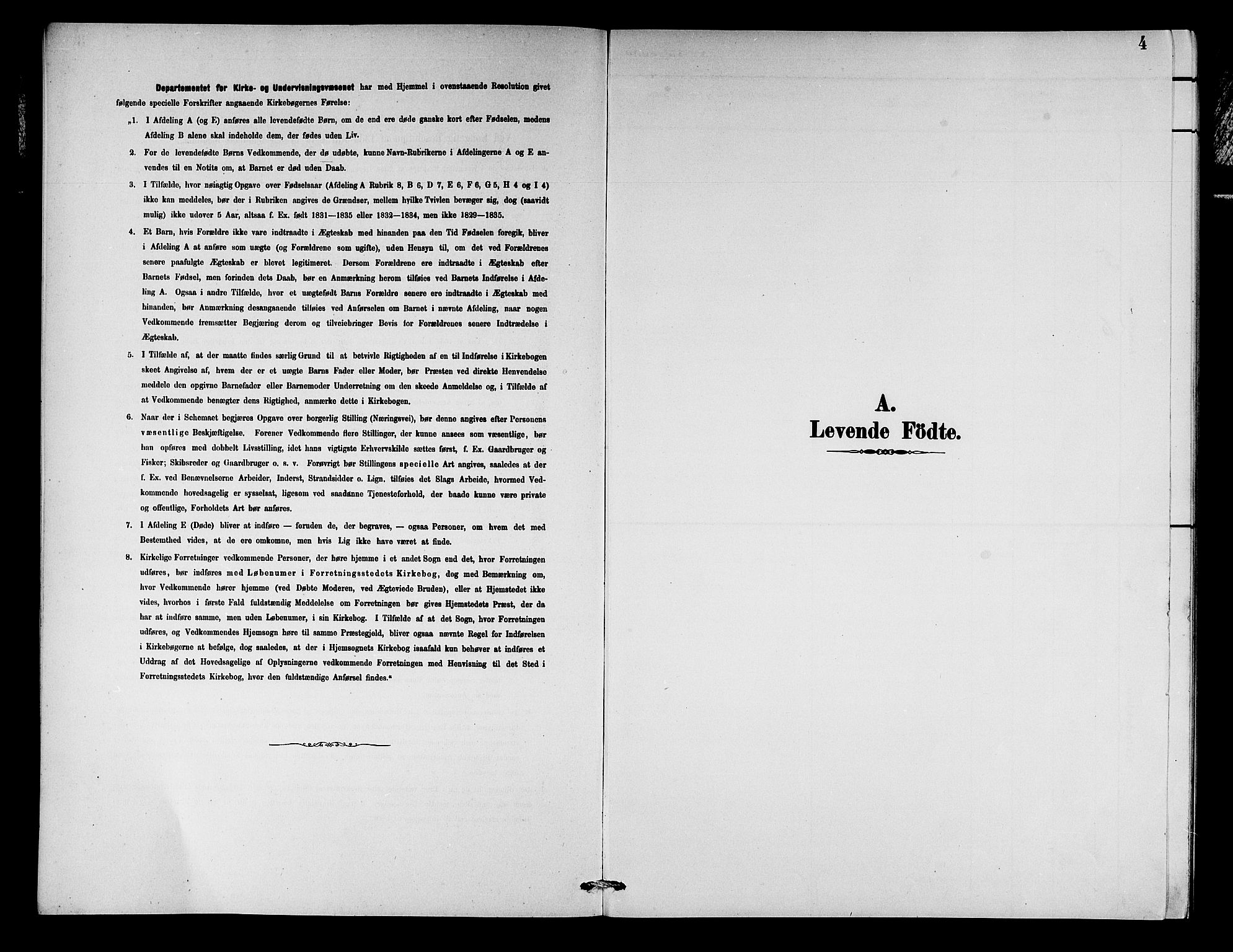 SAB, Aurland Sokneprestembete*, Klokkerbok nr. C 2, 1883-1900, s. 4