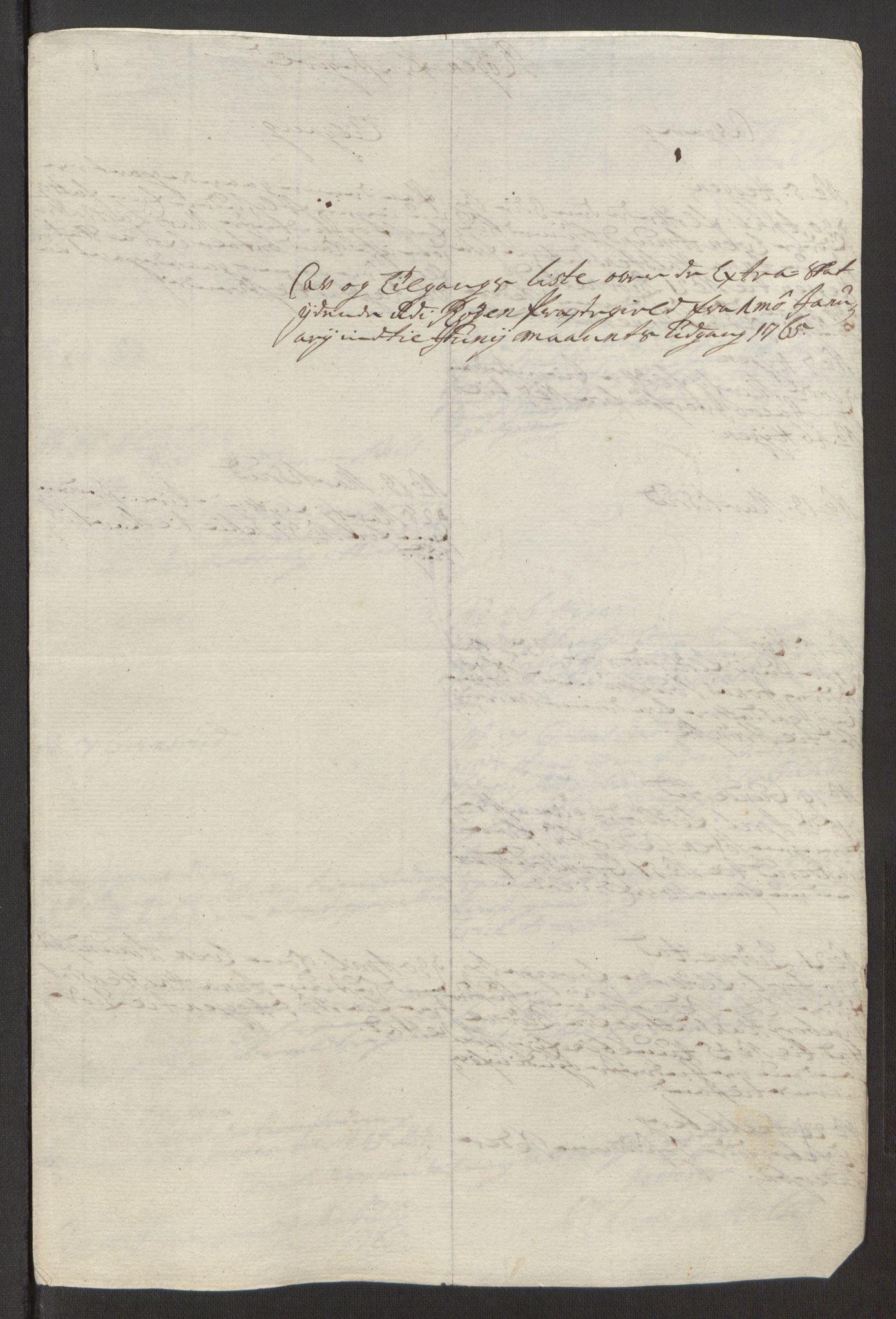 RA, Rentekammeret inntil 1814, Reviderte regnskaper, Fogderegnskap, R31/L1834: Ekstraskatten Hurum, Røyken, Eiker, Lier og Buskerud, 1765, s. 408