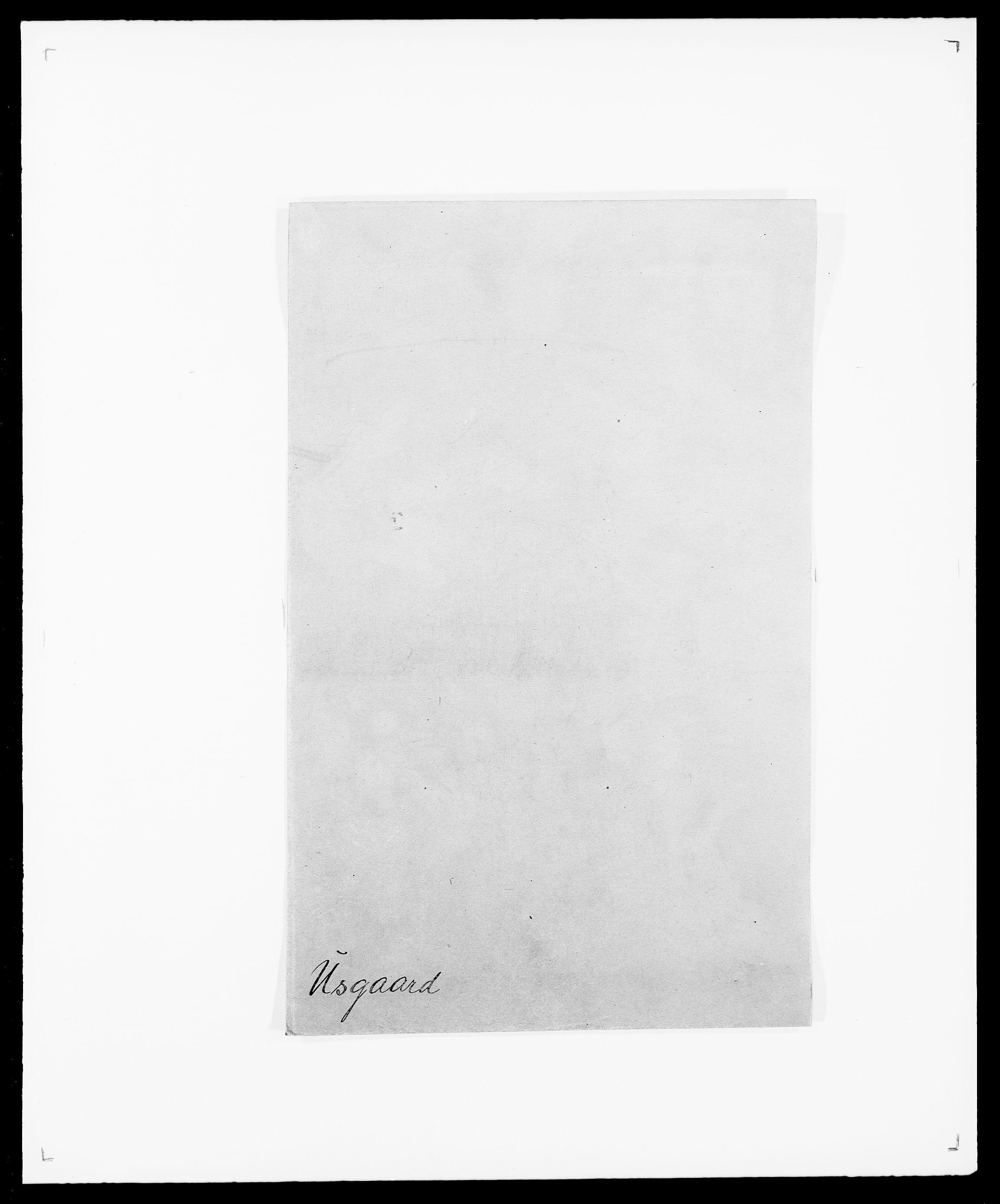 SAO, Delgobe, Charles Antoine - samling, D/Da/L0040: Usgaard - Velund, s. 1