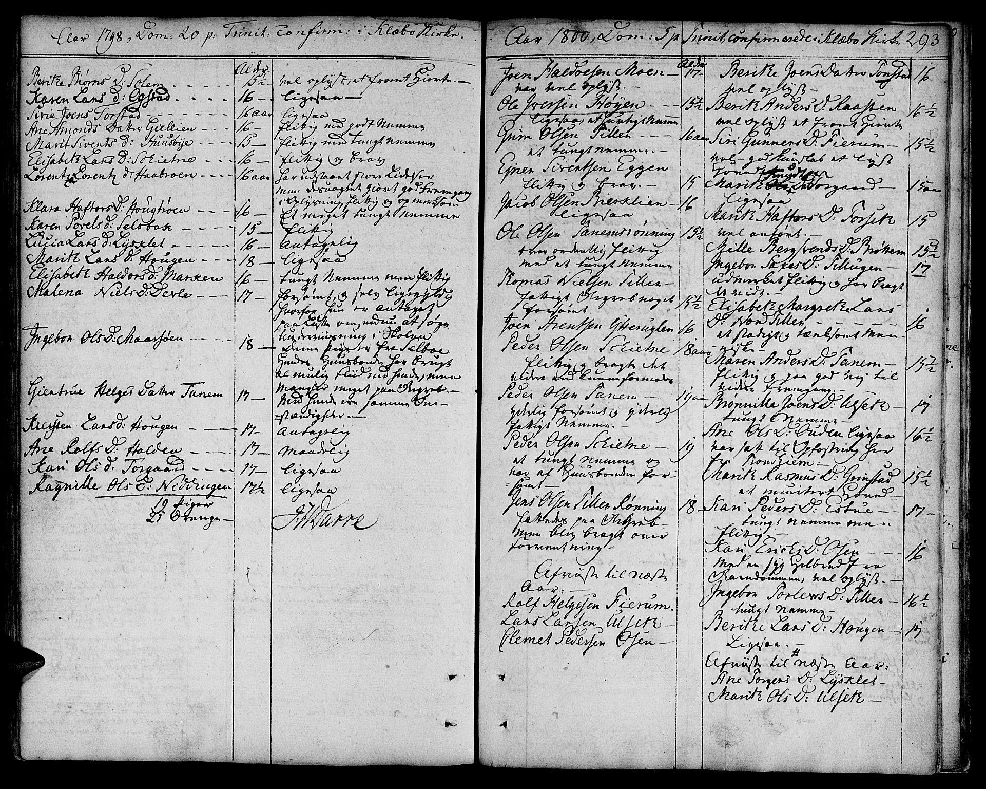SAT, Ministerialprotokoller, klokkerbøker og fødselsregistre - Sør-Trøndelag, 618/L0438: Ministerialbok nr. 618A03, 1783-1815, s. 293