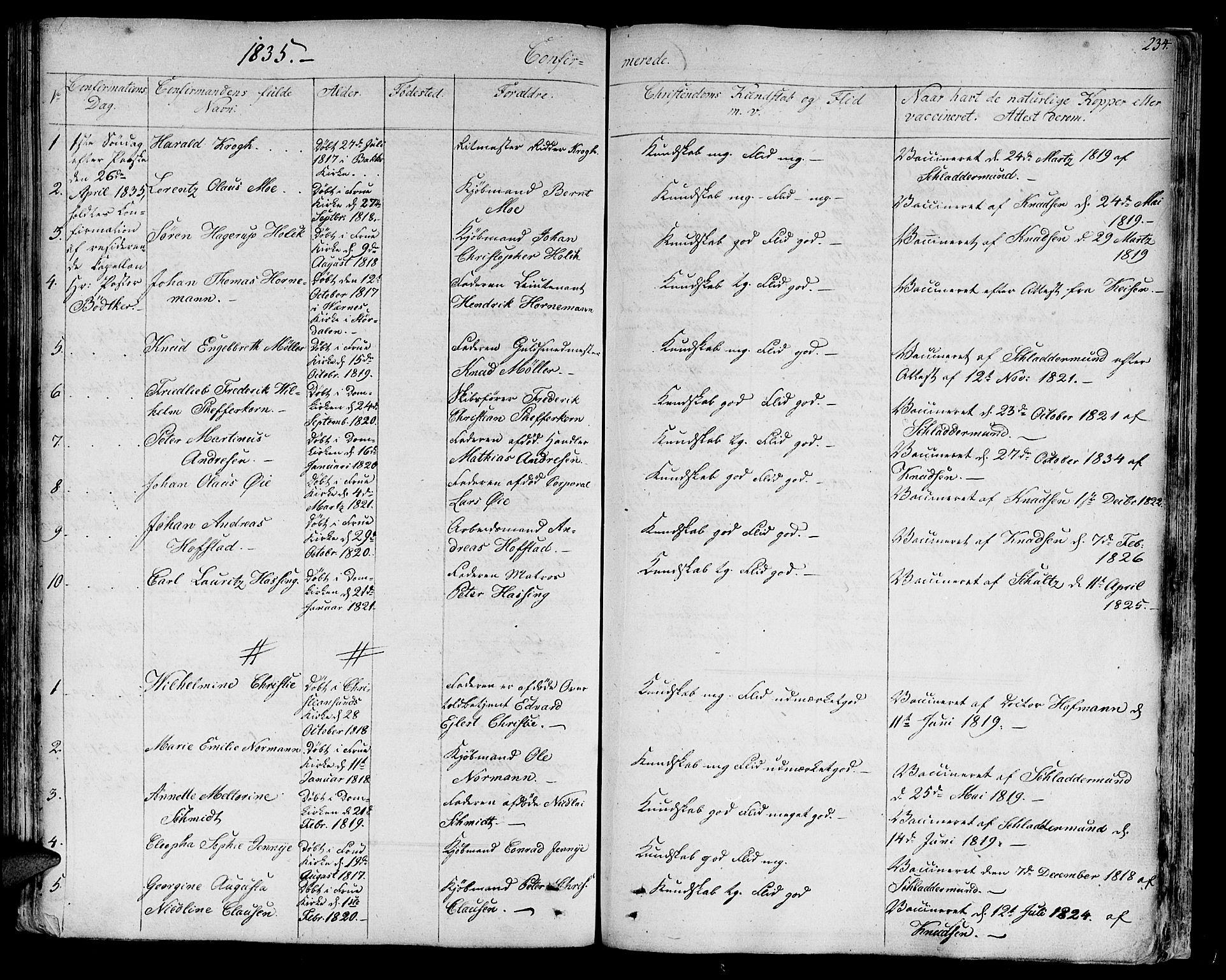 SAT, Ministerialprotokoller, klokkerbøker og fødselsregistre - Sør-Trøndelag, 602/L0108: Ministerialbok nr. 602A06, 1821-1839, s. 234