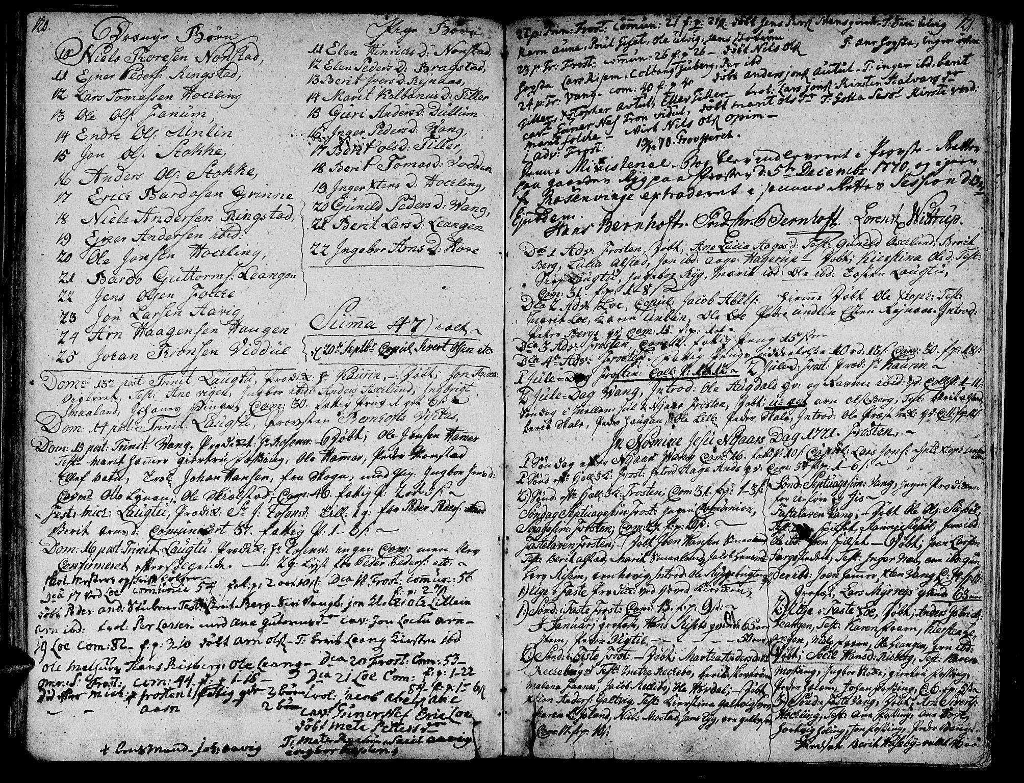 SAT, Ministerialprotokoller, klokkerbøker og fødselsregistre - Nord-Trøndelag, 713/L0109: Ministerialbok nr. 713A01, 1750-1778, s. 120-121