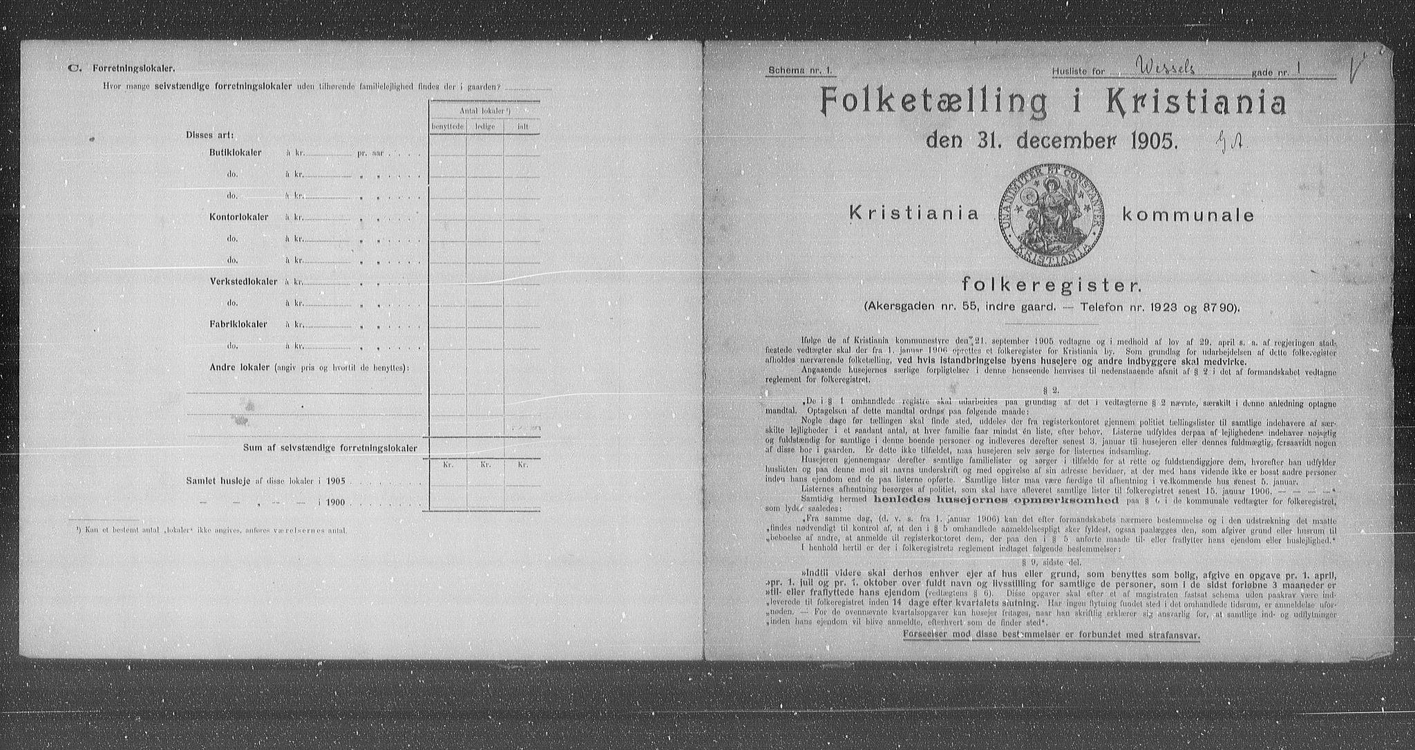 OBA, Kommunal folketelling 1905 for Kristiania kjøpstad, 1905, s. 67241