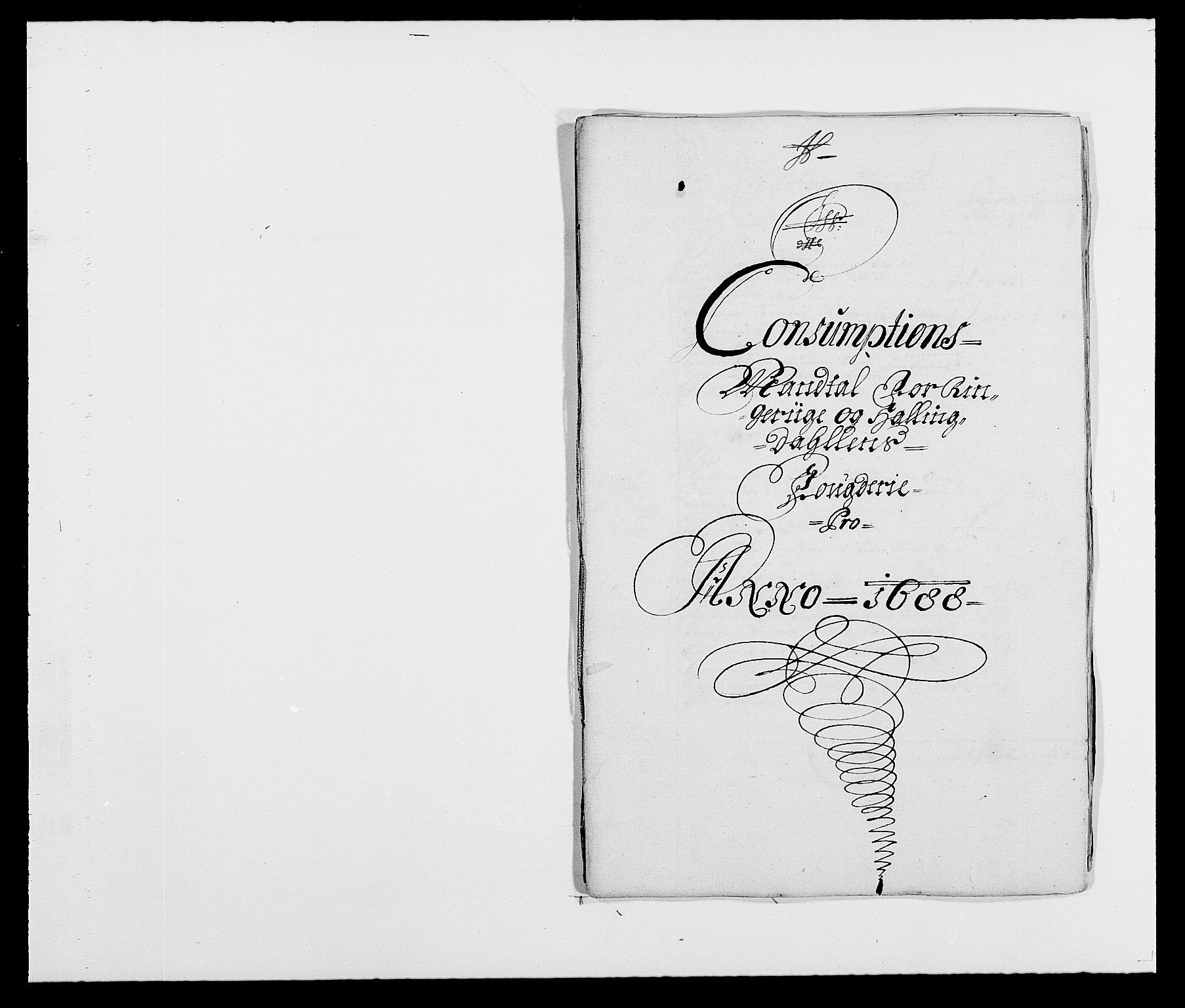 RA, Rentekammeret inntil 1814, Reviderte regnskaper, Fogderegnskap, R21/L1447: Fogderegnskap Ringerike og Hallingdal, 1687-1689, s. 186