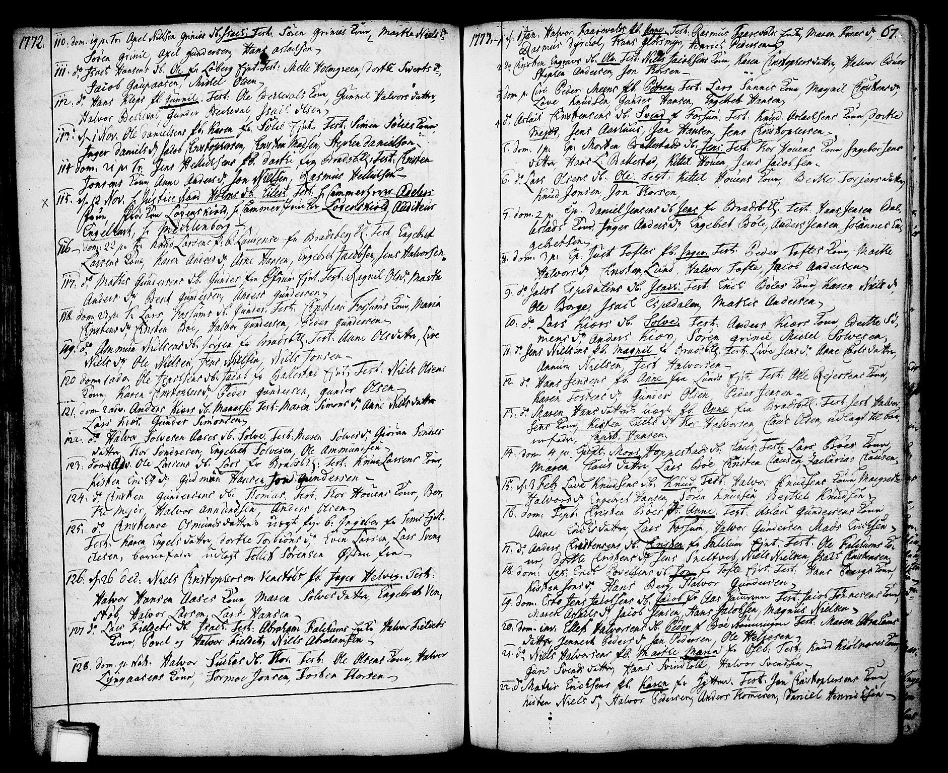 SAKO, Gjerpen kirkebøker, F/Fa/L0002: Ministerialbok nr. 2, 1747-1795, s. 67