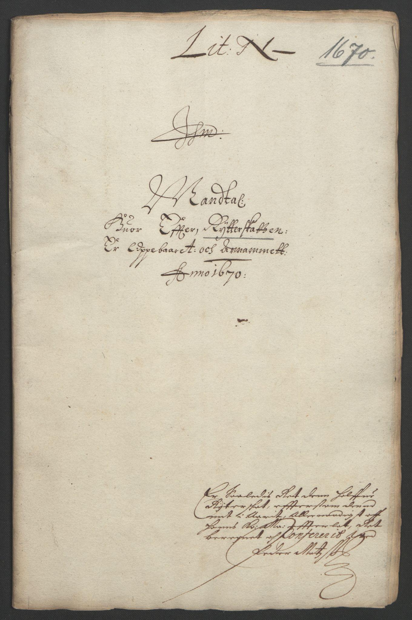 RA, Rentekammeret inntil 1814, Reviderte regnskaper, Fogderegnskap, R33/L1965: Fogderegnskap Larvik grevskap, 1669-1670, s. 164