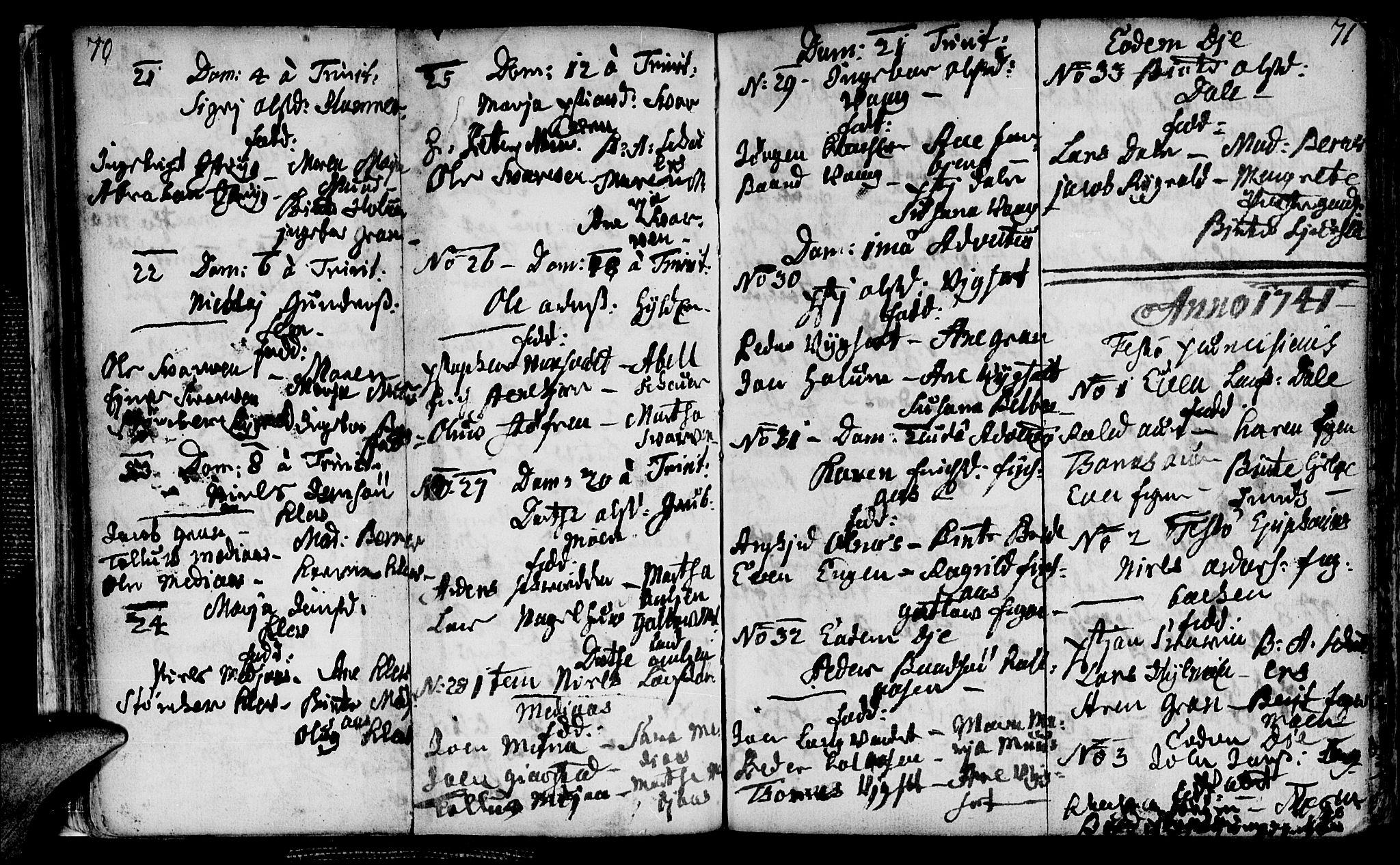 SAT, Ministerialprotokoller, klokkerbøker og fødselsregistre - Nord-Trøndelag, 749/L0467: Ministerialbok nr. 749A01, 1733-1787, s. 70-71
