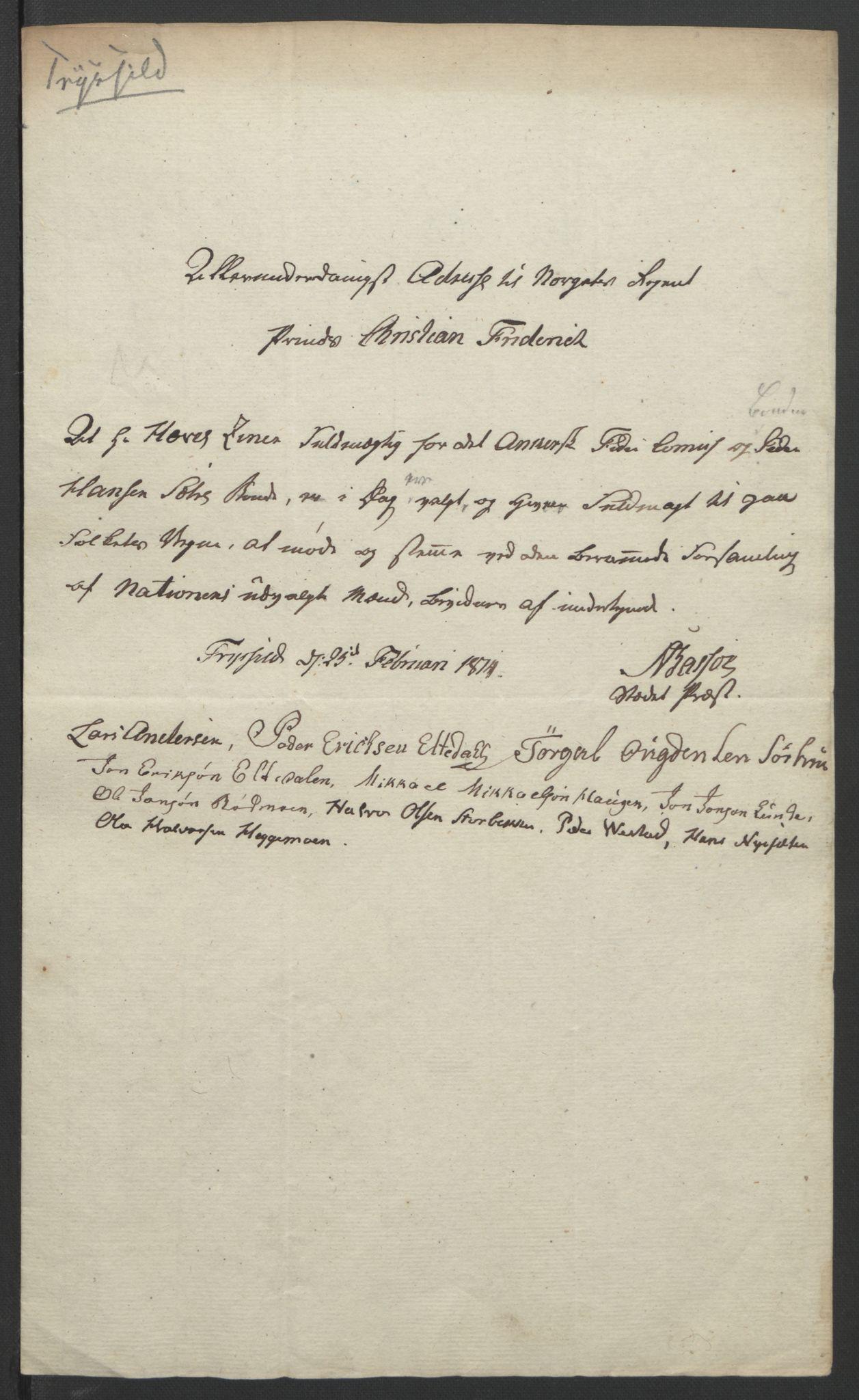 RA, Statsrådssekretariatet, D/Db/L0007: Fullmakter for Eidsvollsrepresentantene i 1814. , 1814, s. 242