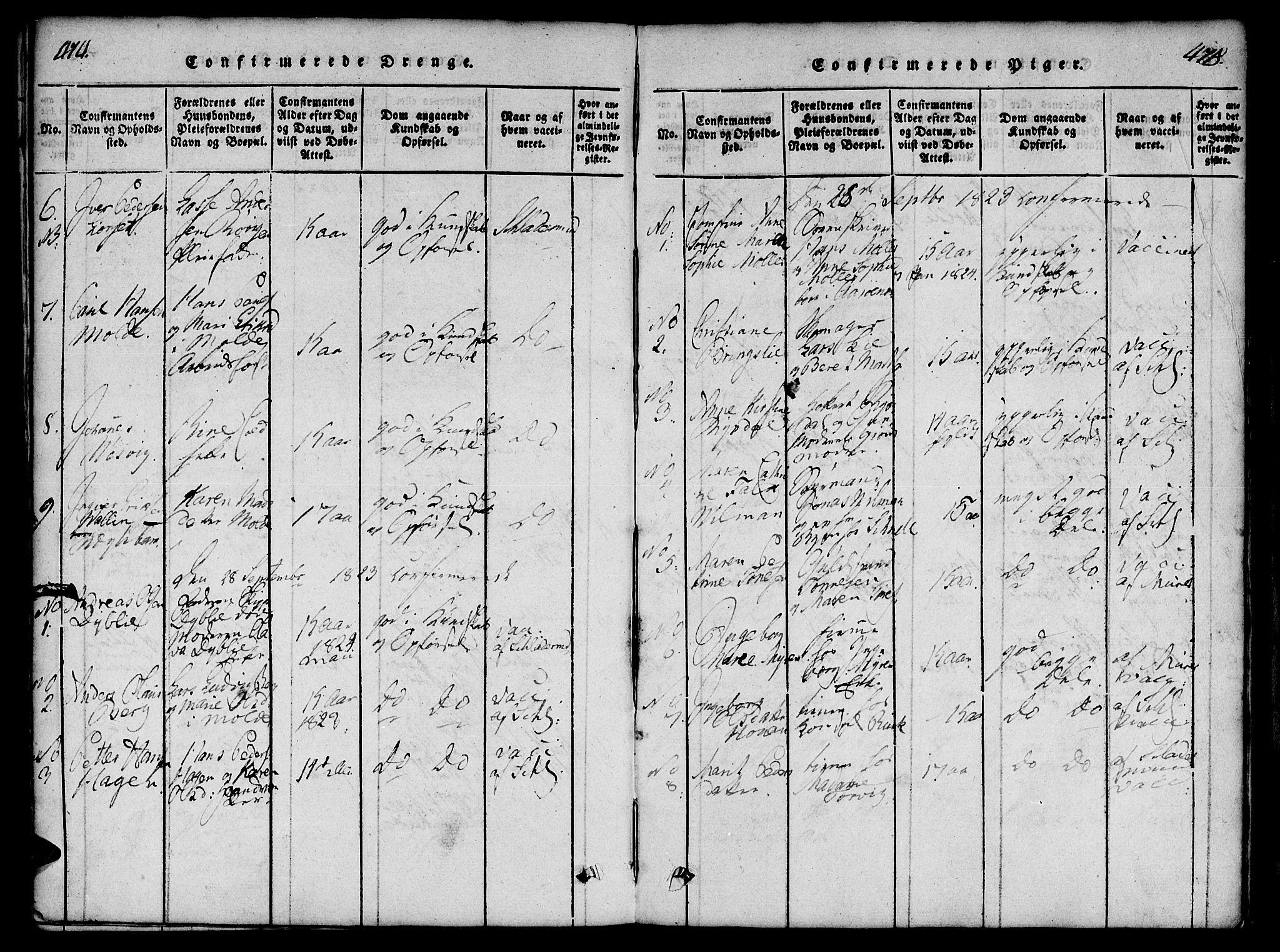 SAT, Ministerialprotokoller, klokkerbøker og fødselsregistre - Møre og Romsdal, 558/L0688: Ministerialbok nr. 558A02, 1818-1843, s. 474-475
