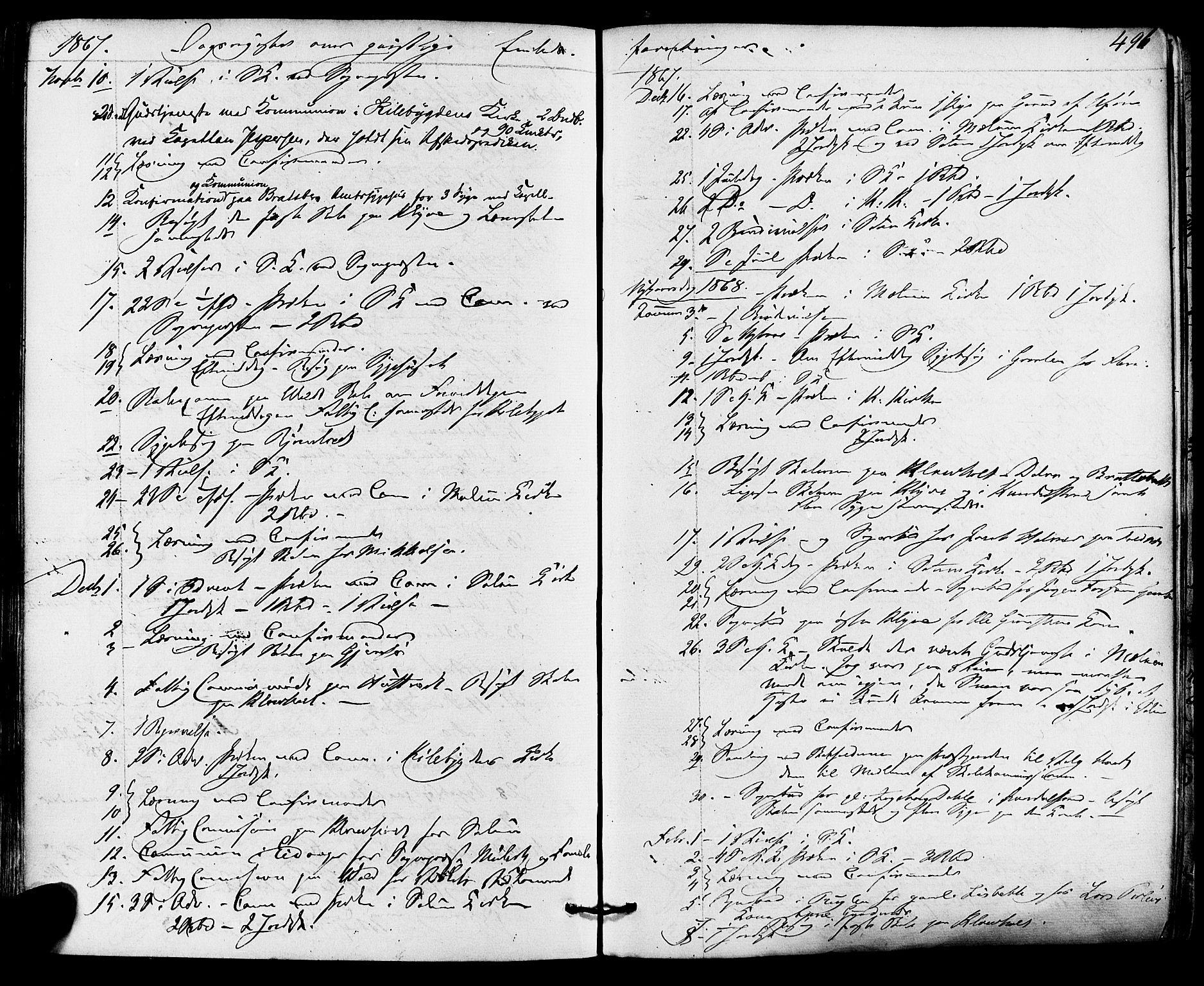 SAKO, Solum kirkebøker, F/Fa/L0008: Ministerialbok nr. I 8, 1865-1876, s. 496