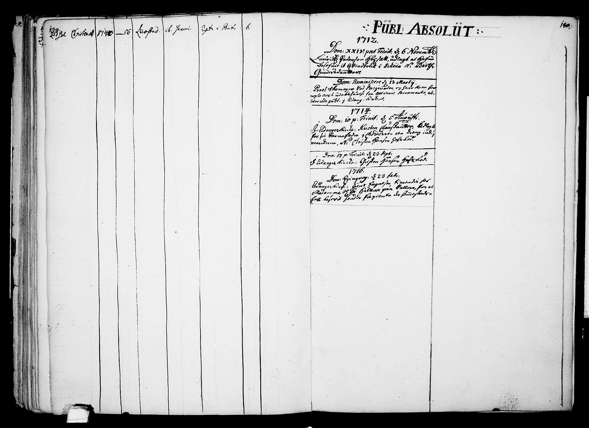 SAKO, Eidanger kirkebøker, F/Fa/L0002: Ministerialbok nr. 2, 1712-1720, s. 139-140