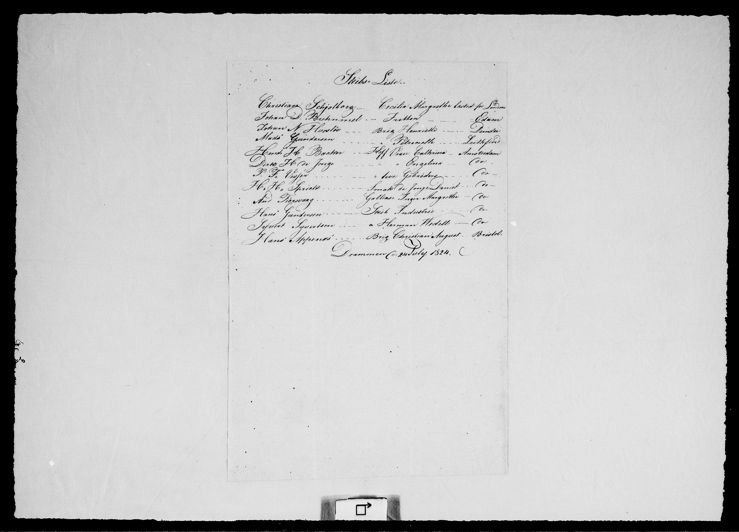 RA, Modums Blaafarveværk, G/Ge/L0314, 1824-1848, s. 2