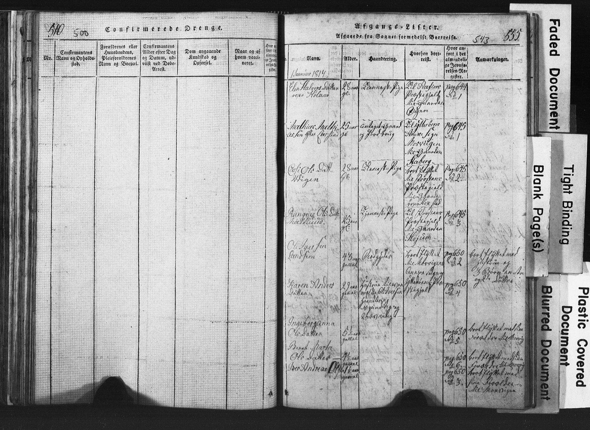 SAT, Ministerialprotokoller, klokkerbøker og fødselsregistre - Nord-Trøndelag, 701/L0017: Klokkerbok nr. 701C01, 1817-1825, s. 542-543