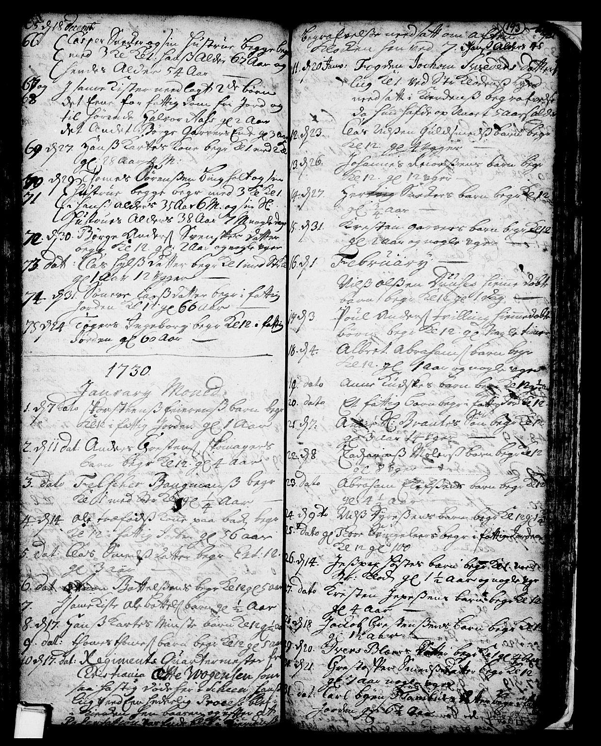 SAKO, Skien kirkebøker, F/Fa/L0002: Ministerialbok nr. 2, 1716-1757, s. 193