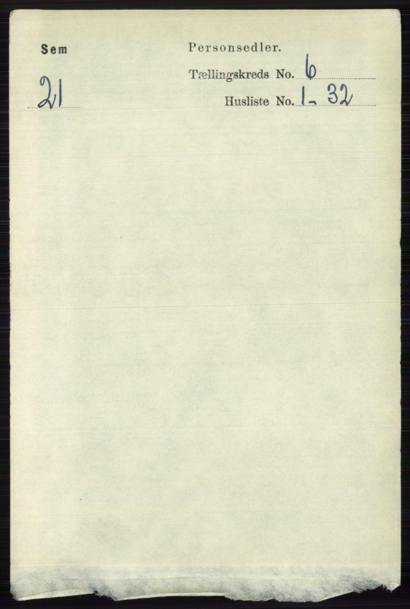 RA, Folketelling 1891 for 0721 Sem herred, 1891, s. 2627