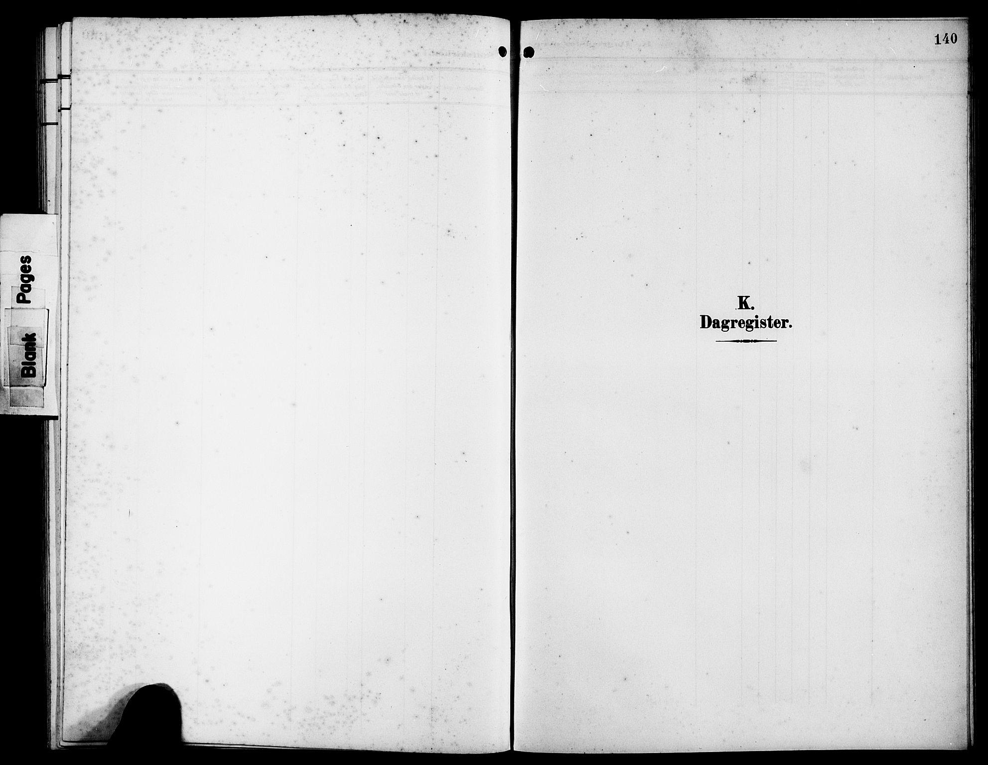 SAB, Bremanger Sokneprestembete, H/Hab: Klokkerbok nr. B 1, 1906-1925, s. 140