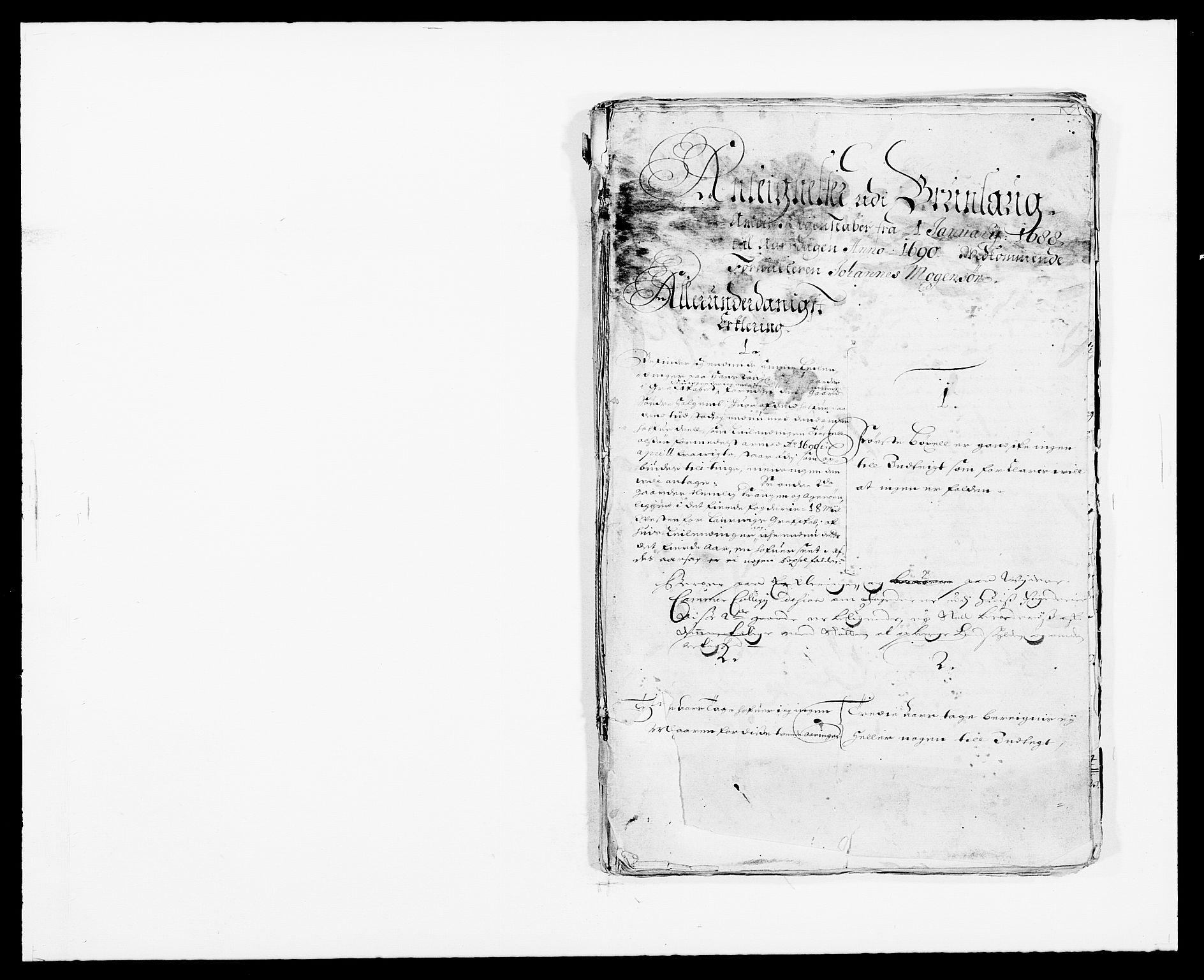 RA, Rentekammeret inntil 1814, Reviderte regnskaper, Fogderegnskap, R33/L1971: Fogderegnskap Larvik grevskap, 1688-1689, s. 406