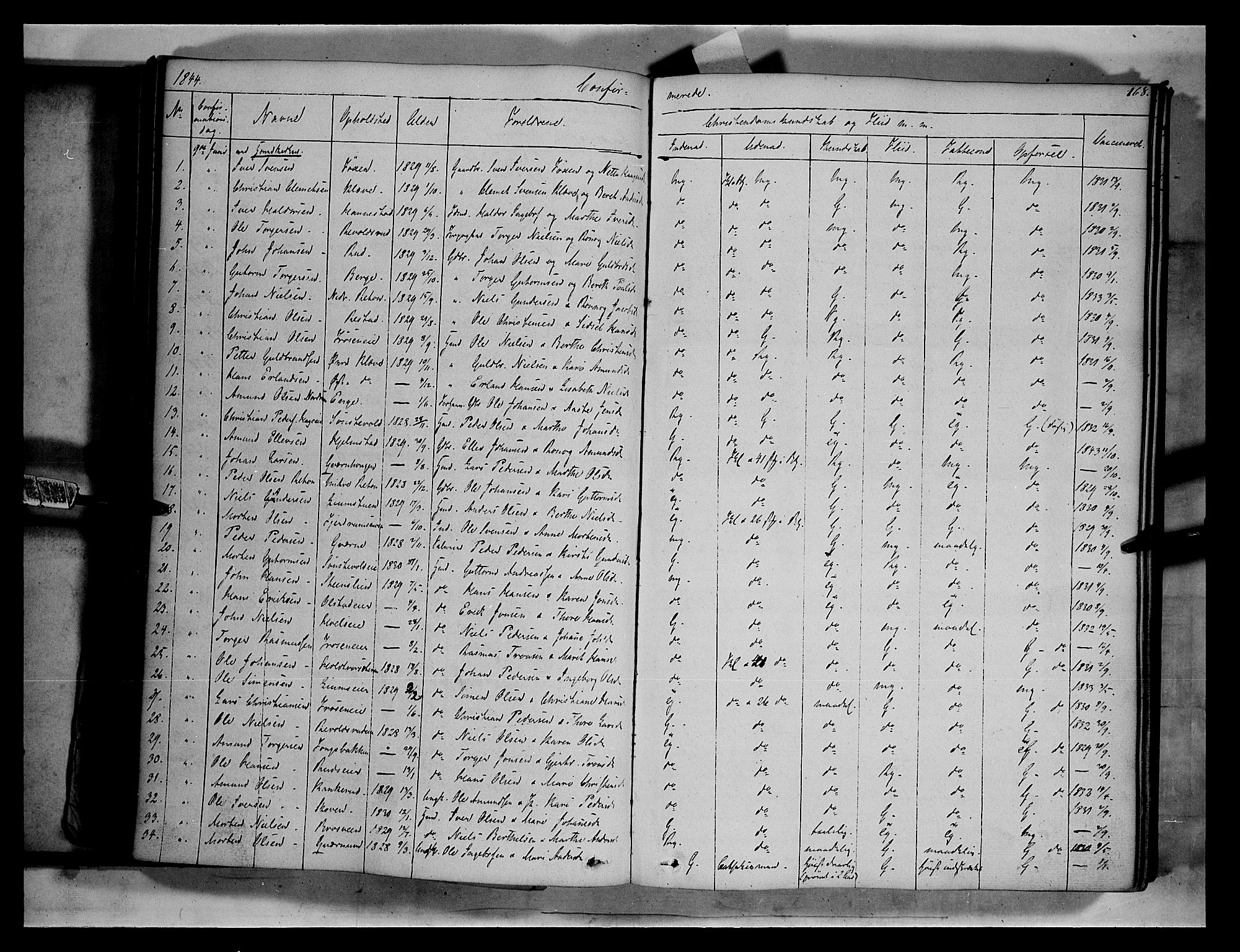SAH, Gausdal prestekontor, Ministerialbok nr. 7, 1840-1850, s. 168