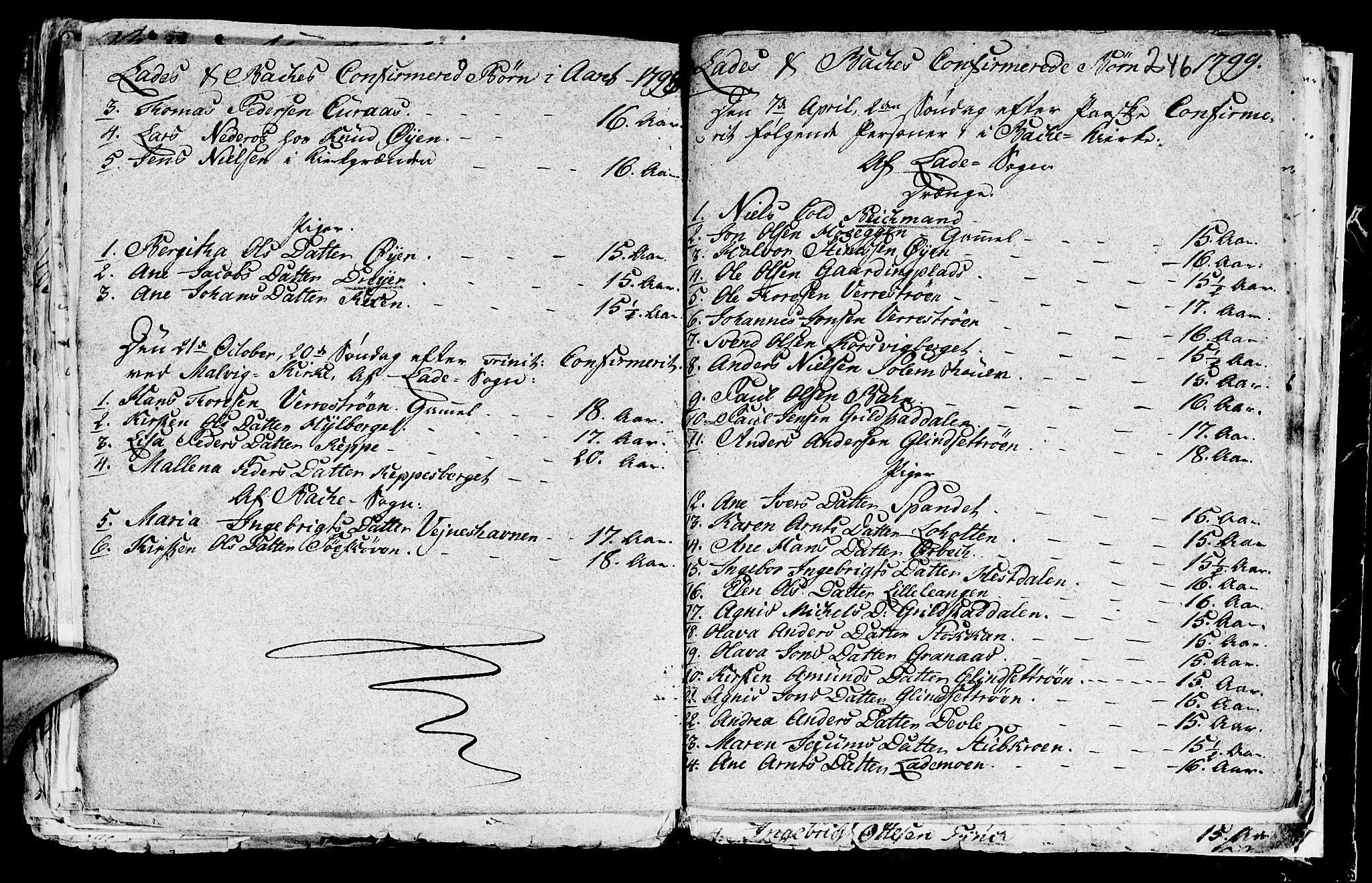SAT, Ministerialprotokoller, klokkerbøker og fødselsregistre - Sør-Trøndelag, 604/L0218: Klokkerbok nr. 604C01, 1754-1819, s. 246