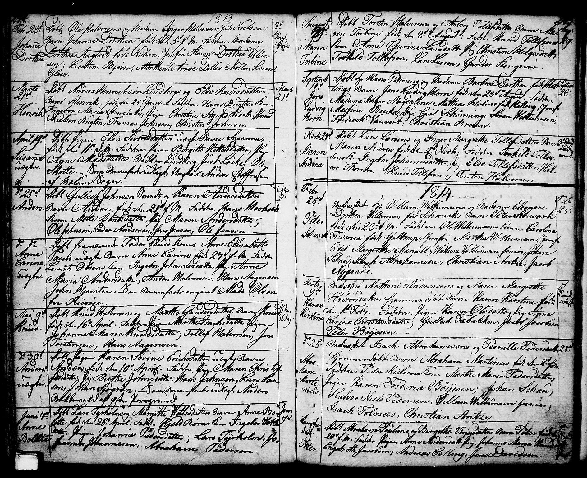 SAKO, Porsgrunn kirkebøker , F/Fa/L0001: Ministerialbok nr. 1, 1764-1814, s. 244-245