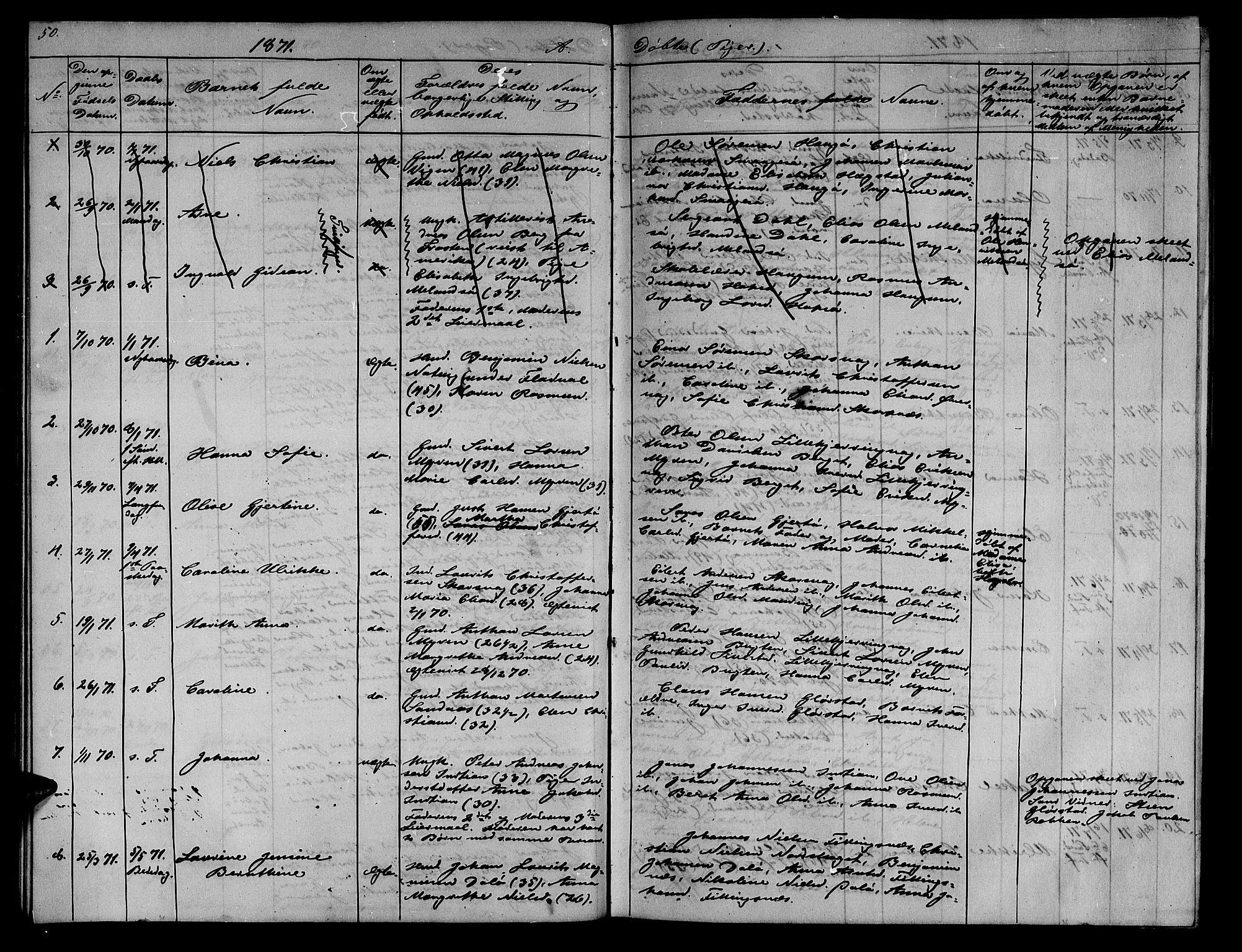 SAT, Ministerialprotokoller, klokkerbøker og fødselsregistre - Sør-Trøndelag, 634/L0539: Klokkerbok nr. 634C01, 1866-1873, s. 50