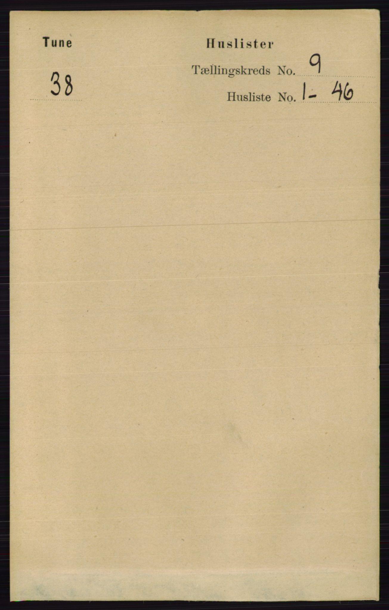 RA, Folketelling 1891 for 0130 Tune herred, 1891, s. 6141