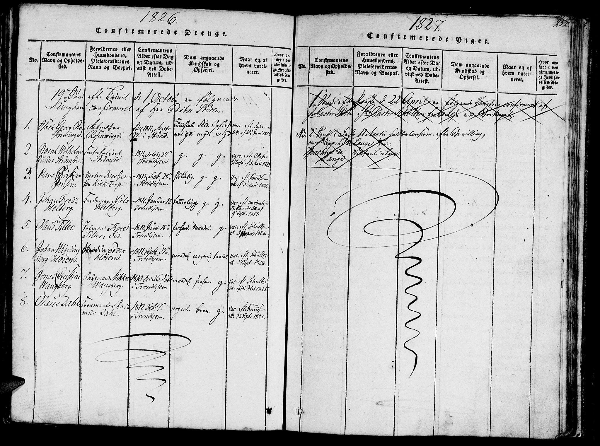 SAT, Ministerialprotokoller, klokkerbøker og fødselsregistre - Sør-Trøndelag, 602/L0135: Klokkerbok nr. 602C03, 1815-1832, s. 252