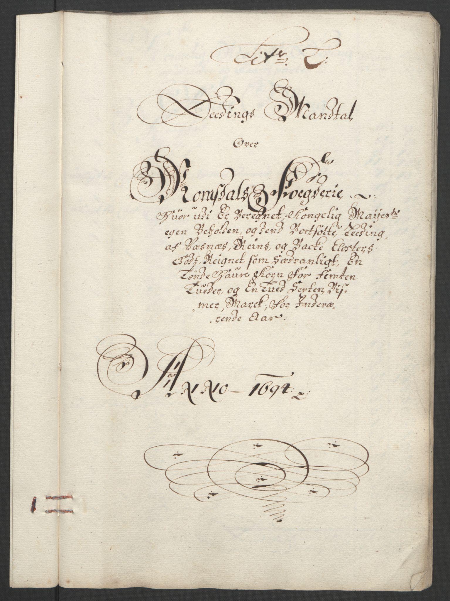 RA, Rentekammeret inntil 1814, Reviderte regnskaper, Fogderegnskap, R55/L3651: Fogderegnskap Romsdal, 1693-1694, s. 263