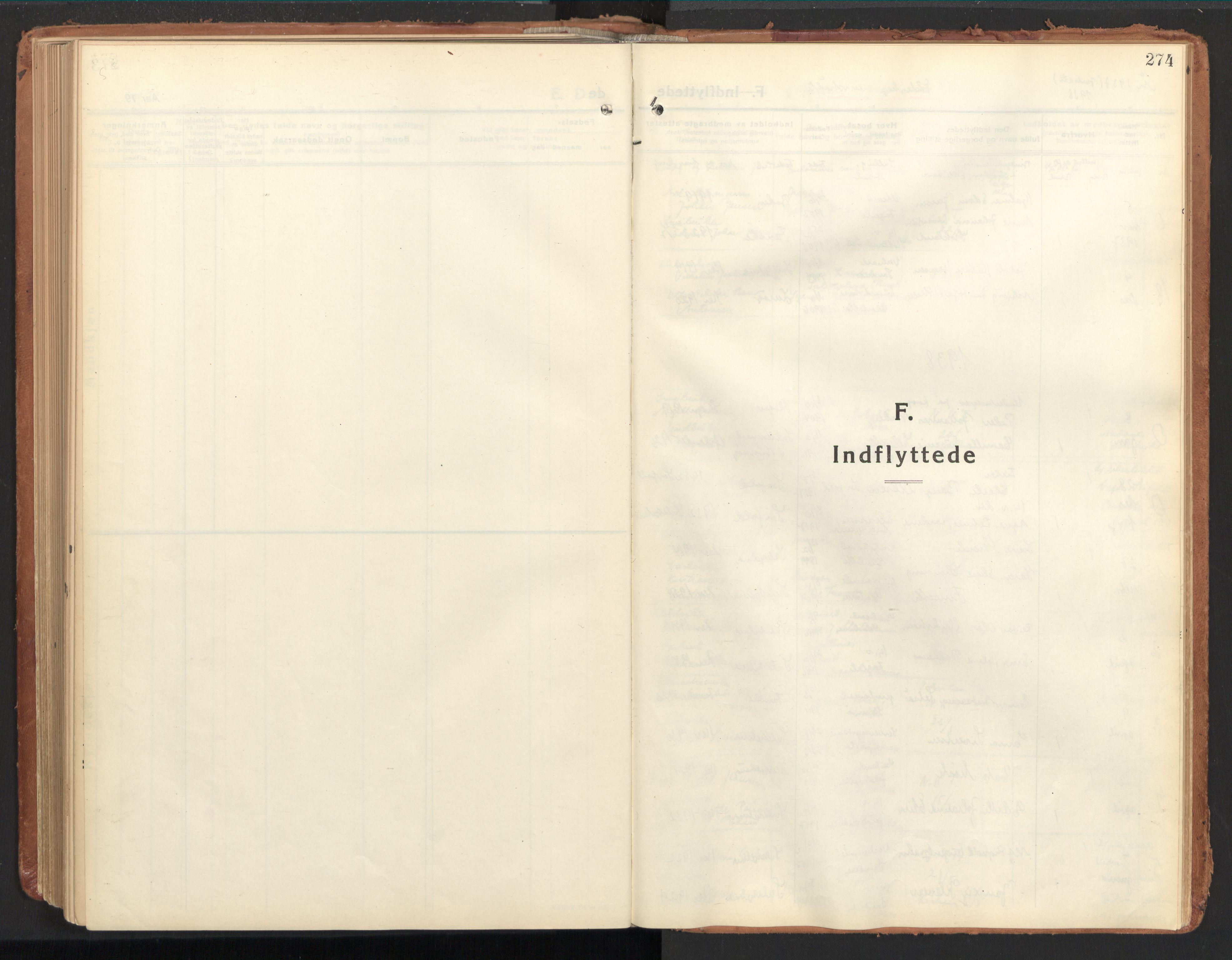 SAT, Ministerialprotokoller, klokkerbøker og fødselsregistre - Nordland, 850/L0716: Residerende kapellans bok nr. 850B06, 1924-1938, s. 274