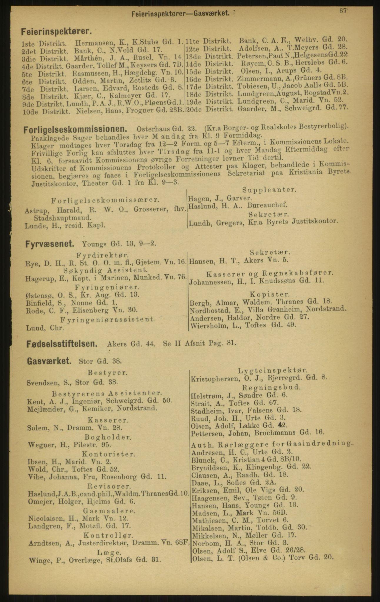 PUBL, Kristiania/Oslo adressebok, 1897, s. 37