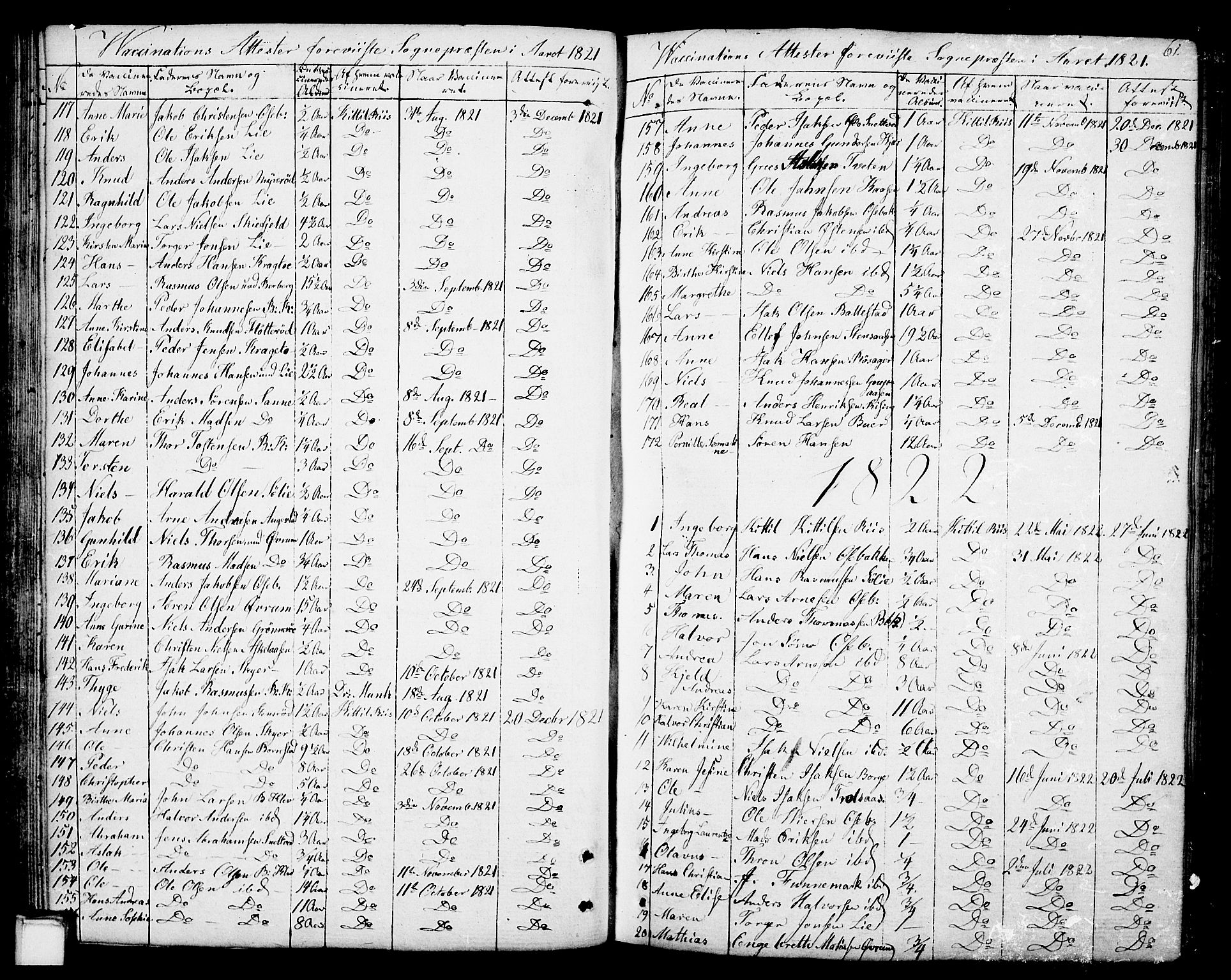 SAKO, Gjerpen kirkebøker, F/Fa/L0003: Ministerialbok nr. 3, 1796-1814, s. 61