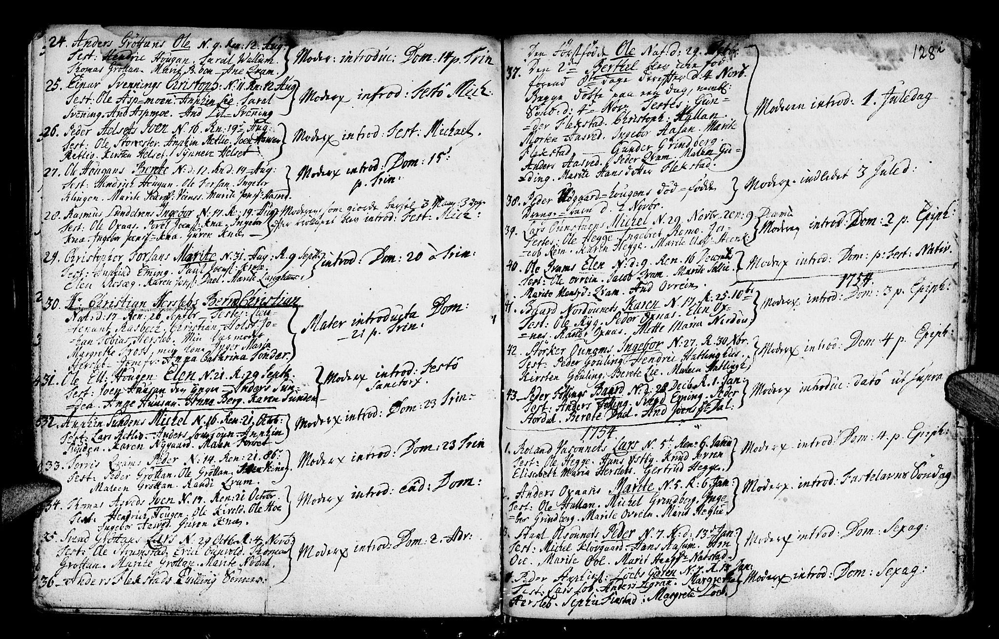 SAT, Ministerialprotokoller, klokkerbøker og fødselsregistre - Nord-Trøndelag, 746/L0439: Ministerialbok nr. 746A01, 1688-1759, s. 128i