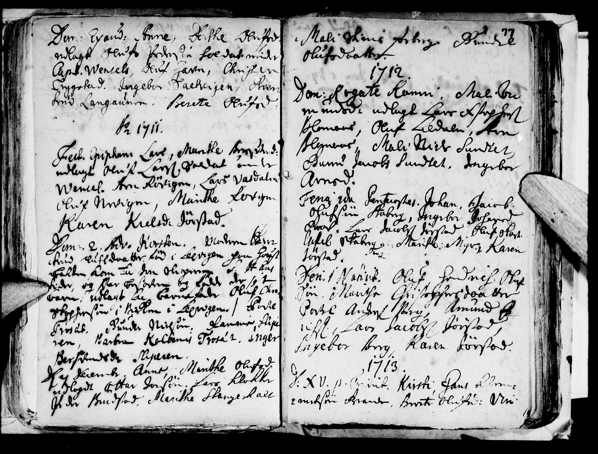 SAT, Ministerialprotokoller, klokkerbøker og fødselsregistre - Nord-Trøndelag, 722/L0214: Ministerialbok nr. 722A01, 1692-1718, s. 77