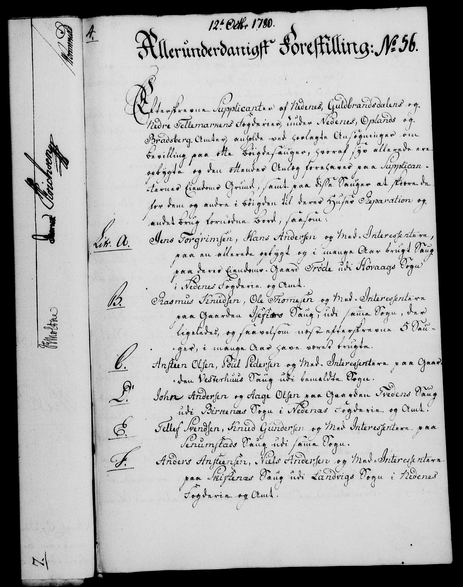 RA, Rentekammeret, Kammerkanselliet, G/Gf/Gfa/L0062: Norsk relasjons- og resolusjonsprotokoll (merket RK 52.62), 1780, s. 487
