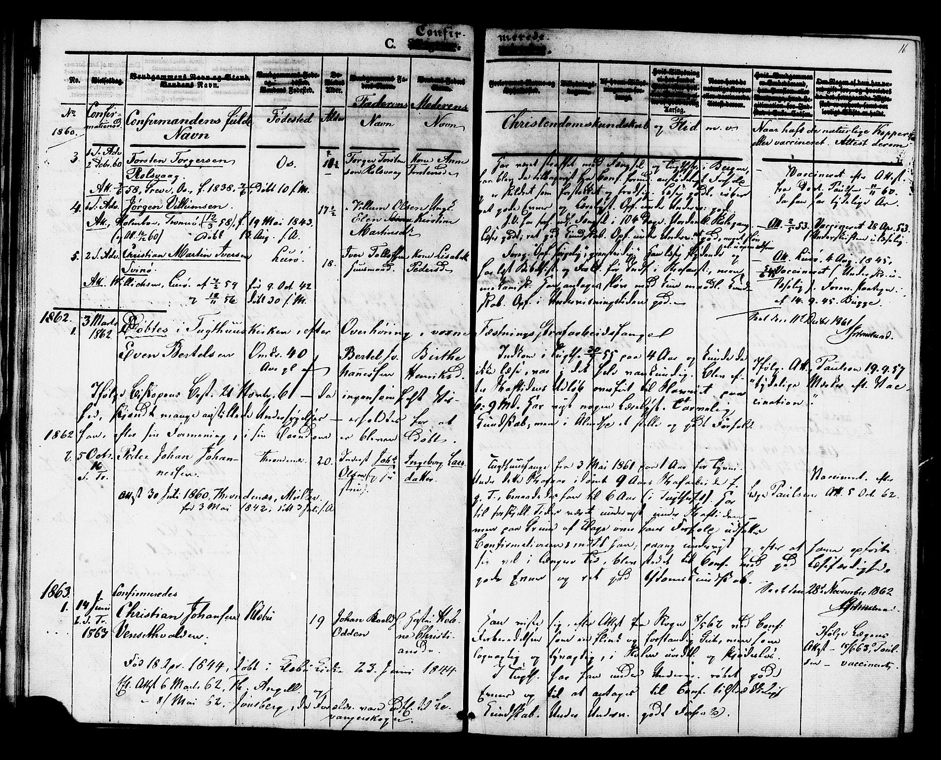 SAT, Ministerialprotokoller, klokkerbøker og fødselsregistre - Sør-Trøndelag, 624/L0480: Ministerialbok nr. 624A01, 1841-1864, s. 16