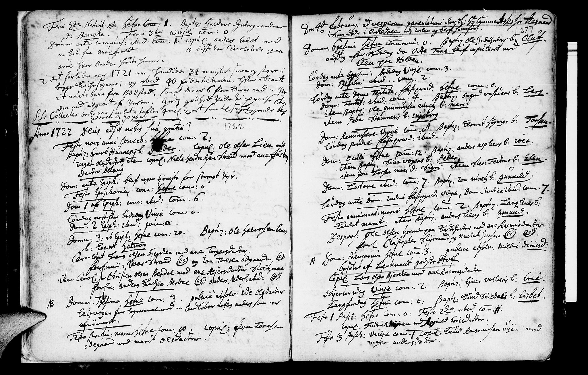 SAT, Ministerialprotokoller, klokkerbøker og fødselsregistre - Sør-Trøndelag, 630/L0488: Ministerialbok nr. 630A01, 1717-1756, s. 26-27