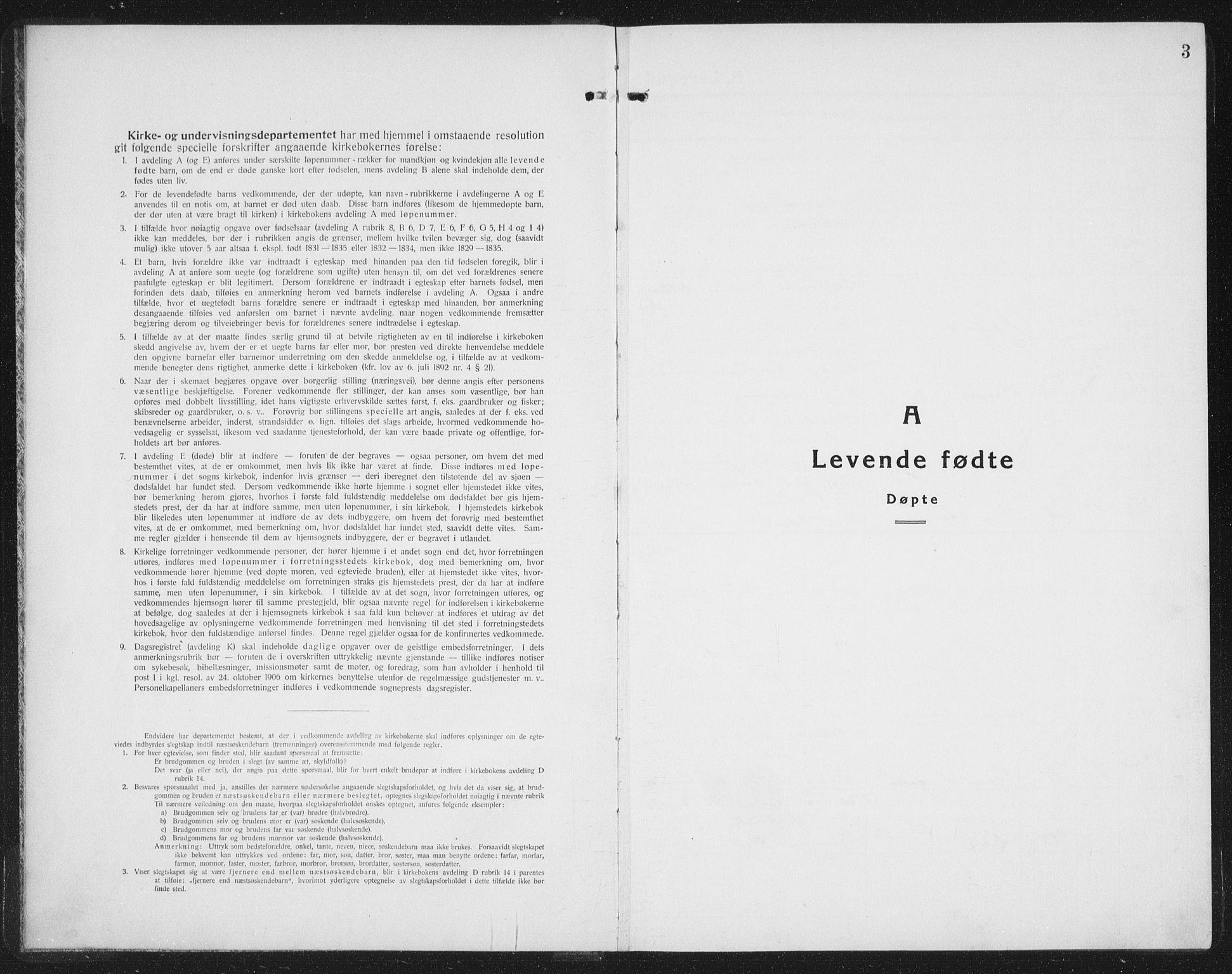 SAT, Ministerialprotokoller, klokkerbøker og fødselsregistre - Nord-Trøndelag, 757/L0507: Klokkerbok nr. 757C02, 1923-1939, s. 3